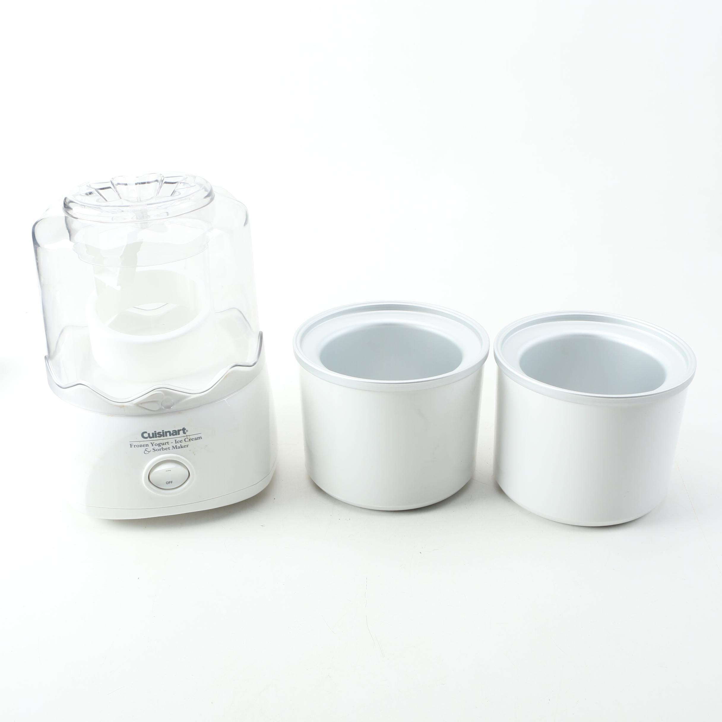 Cuisinart Frozen Yogurt Ice, Cream & Sorbet Maker