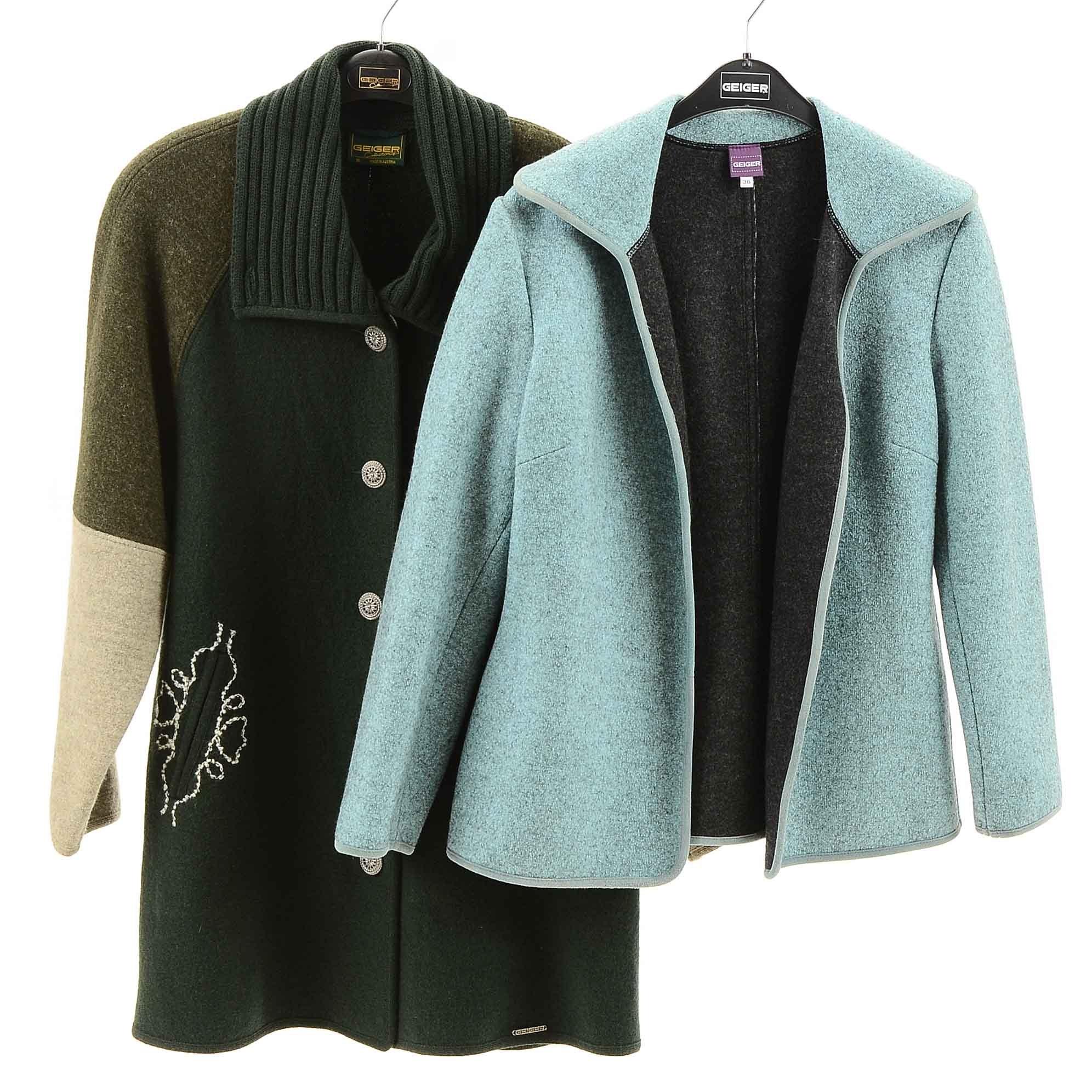 Women's Geiger Light Blue and Olive Coats