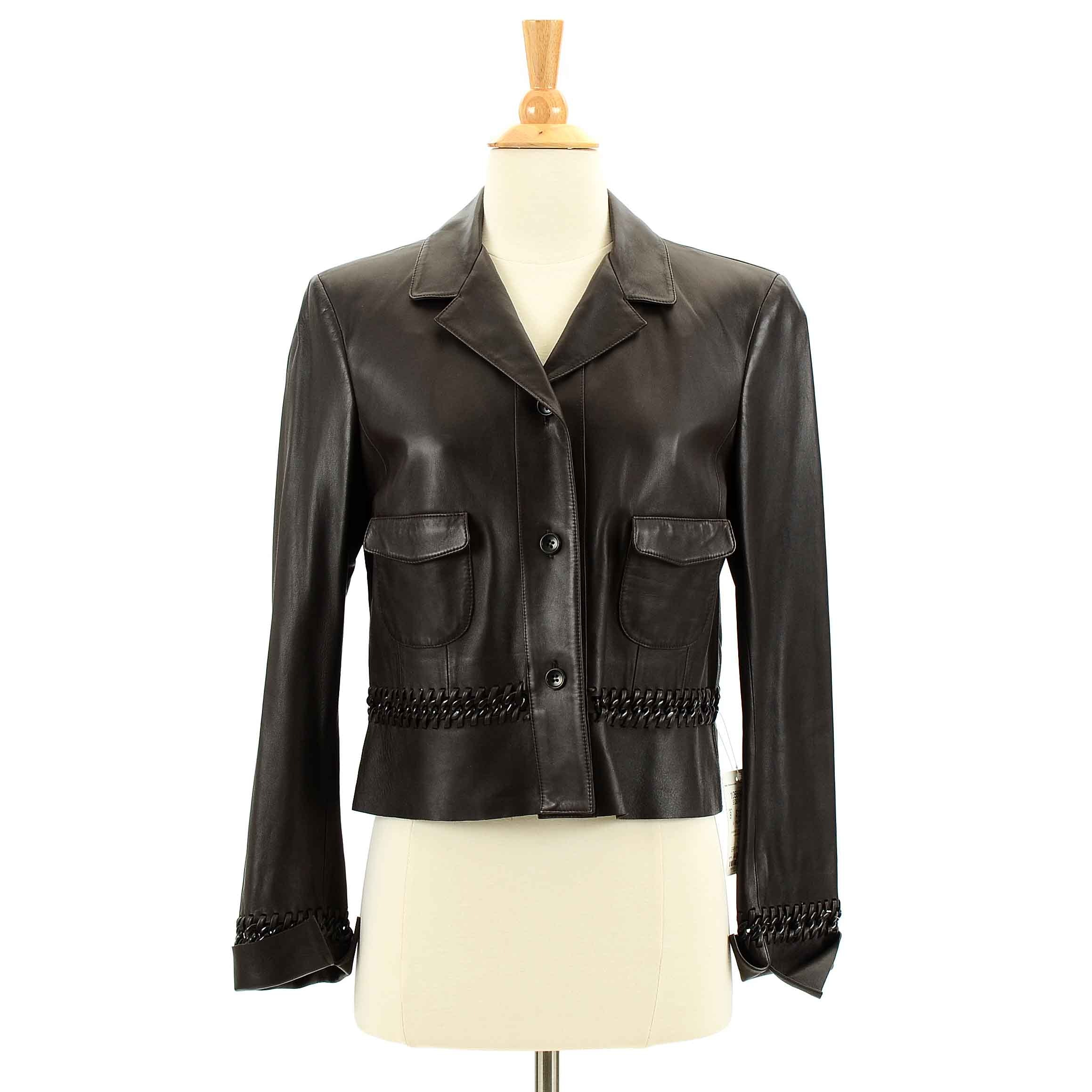 Women's Carlisle Brown Leather Jacket