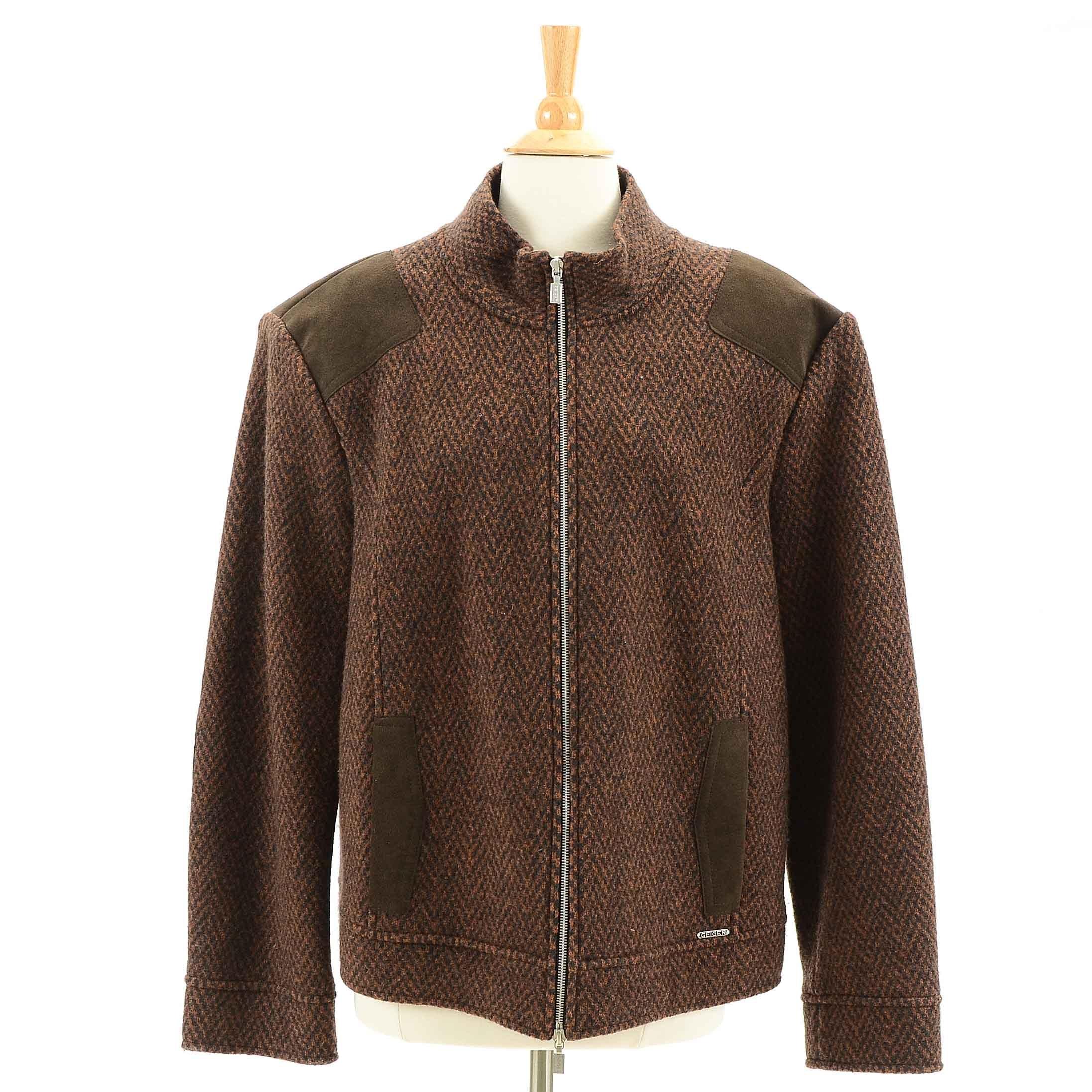 Men's Geiger Brown and Black Herringbone Jacket