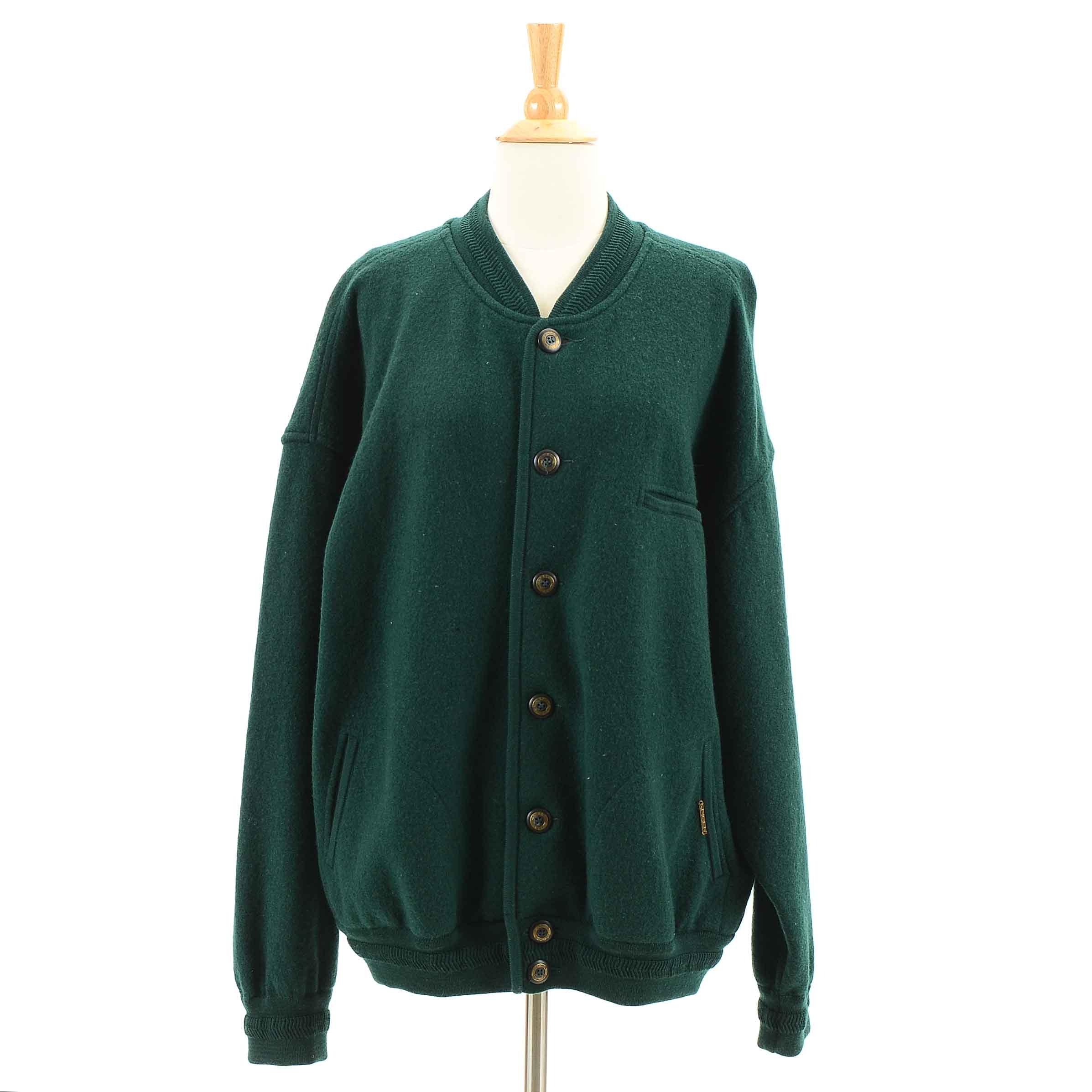 Men's Geiger Dark Green Bomber Style Jacket