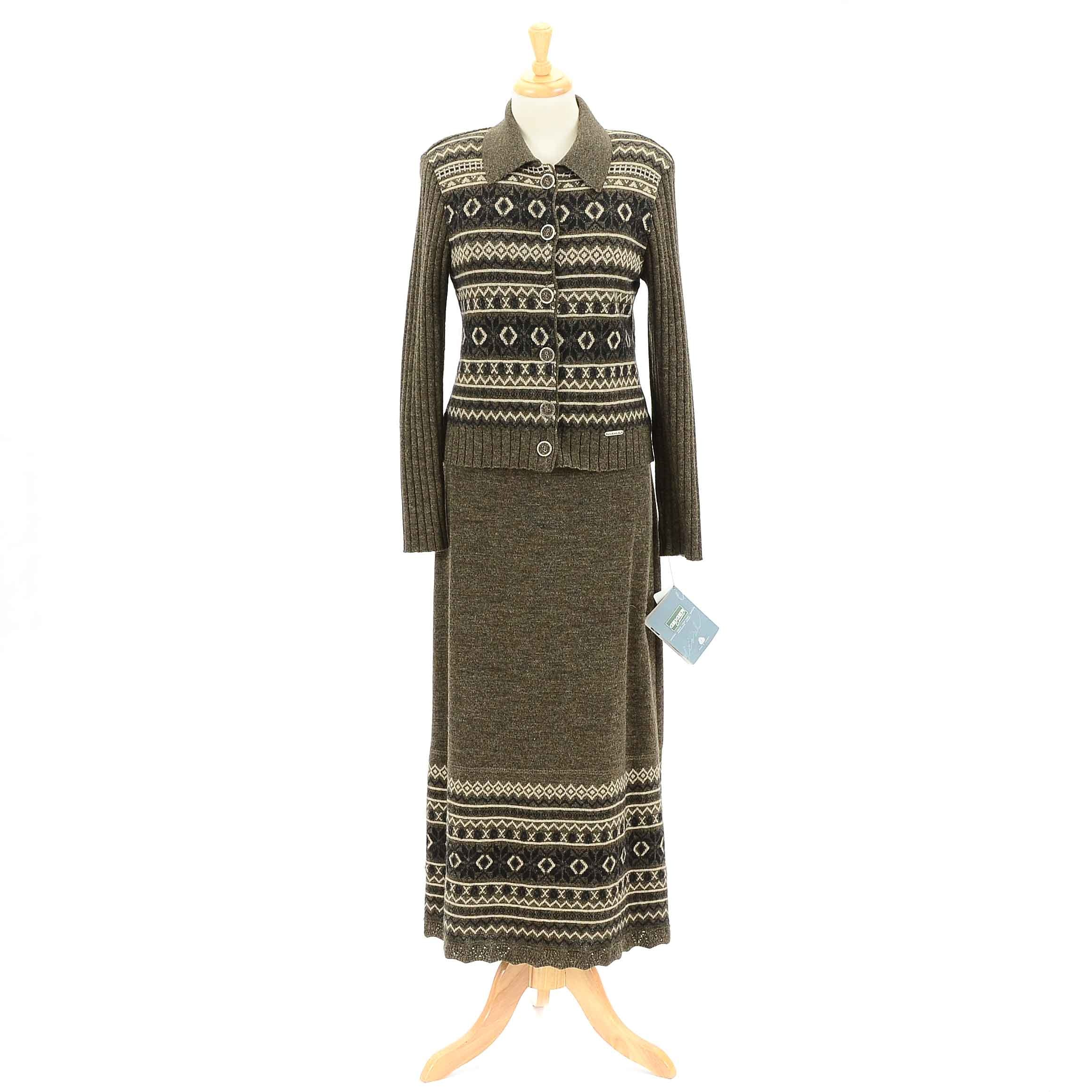 Women's Geiger Brown Skirt and Sweater Set