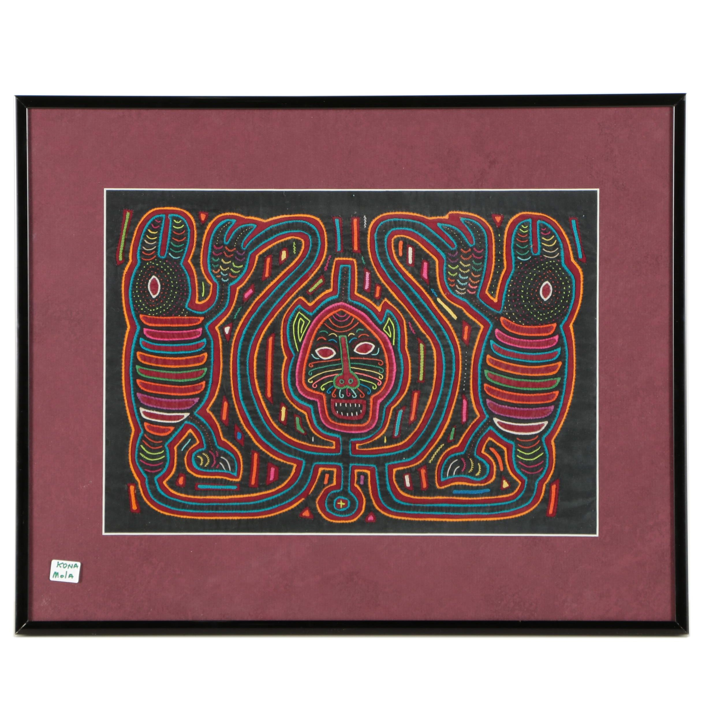 Guna Framed Embroidered Mola Fabric