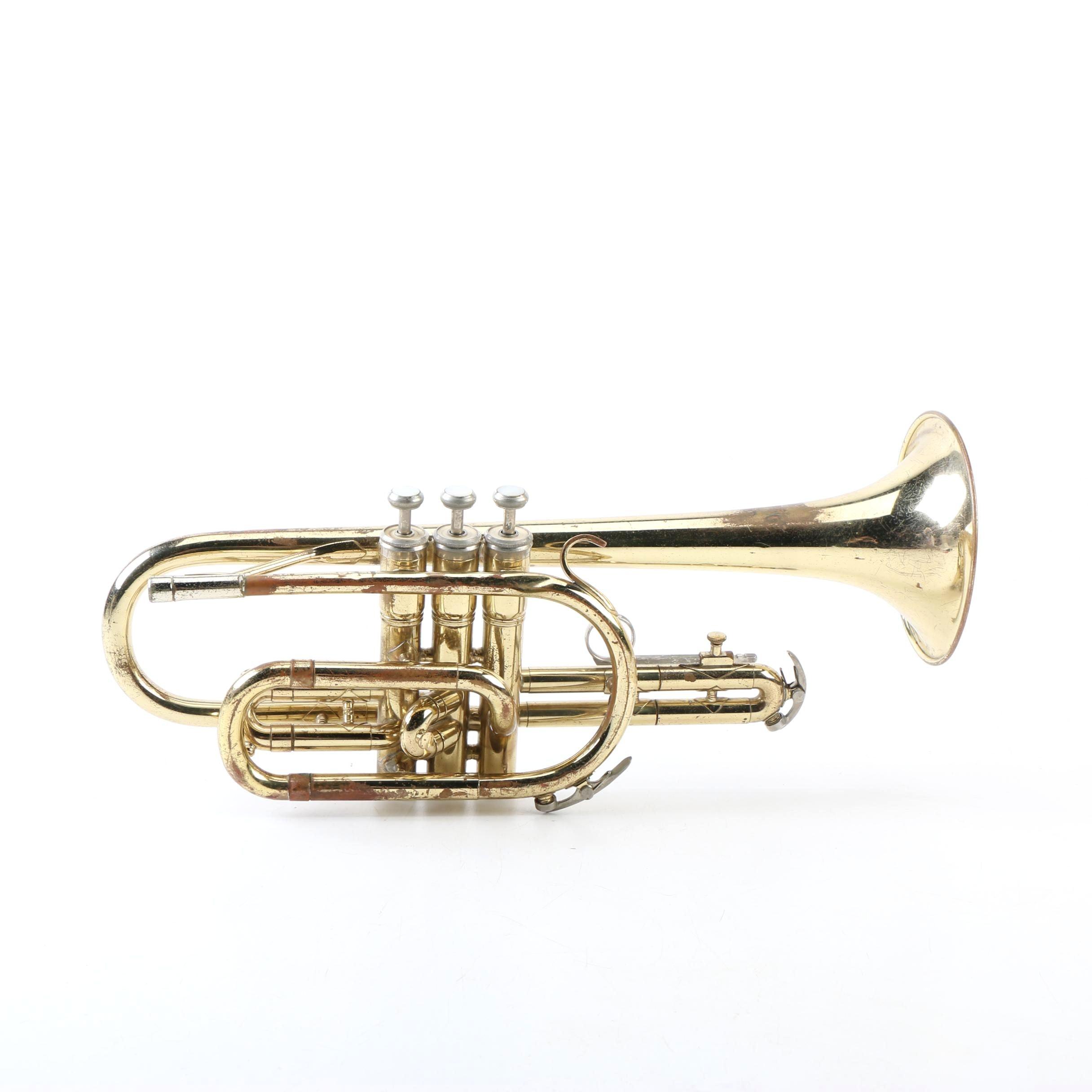 Vintage Model 602 Brass Cornet by King