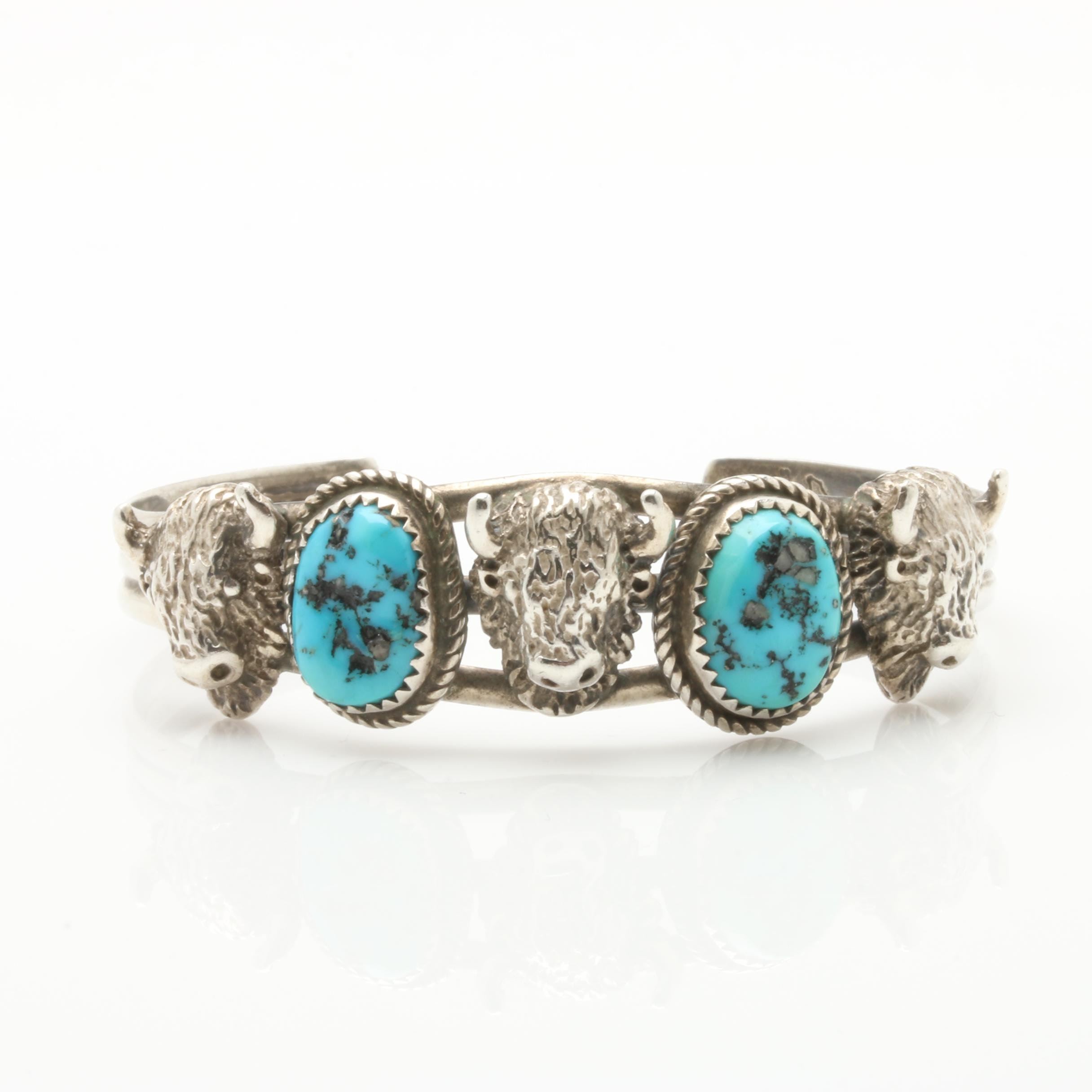 Running Bear Trading Co. Sterling Silver Turquoise Cuff