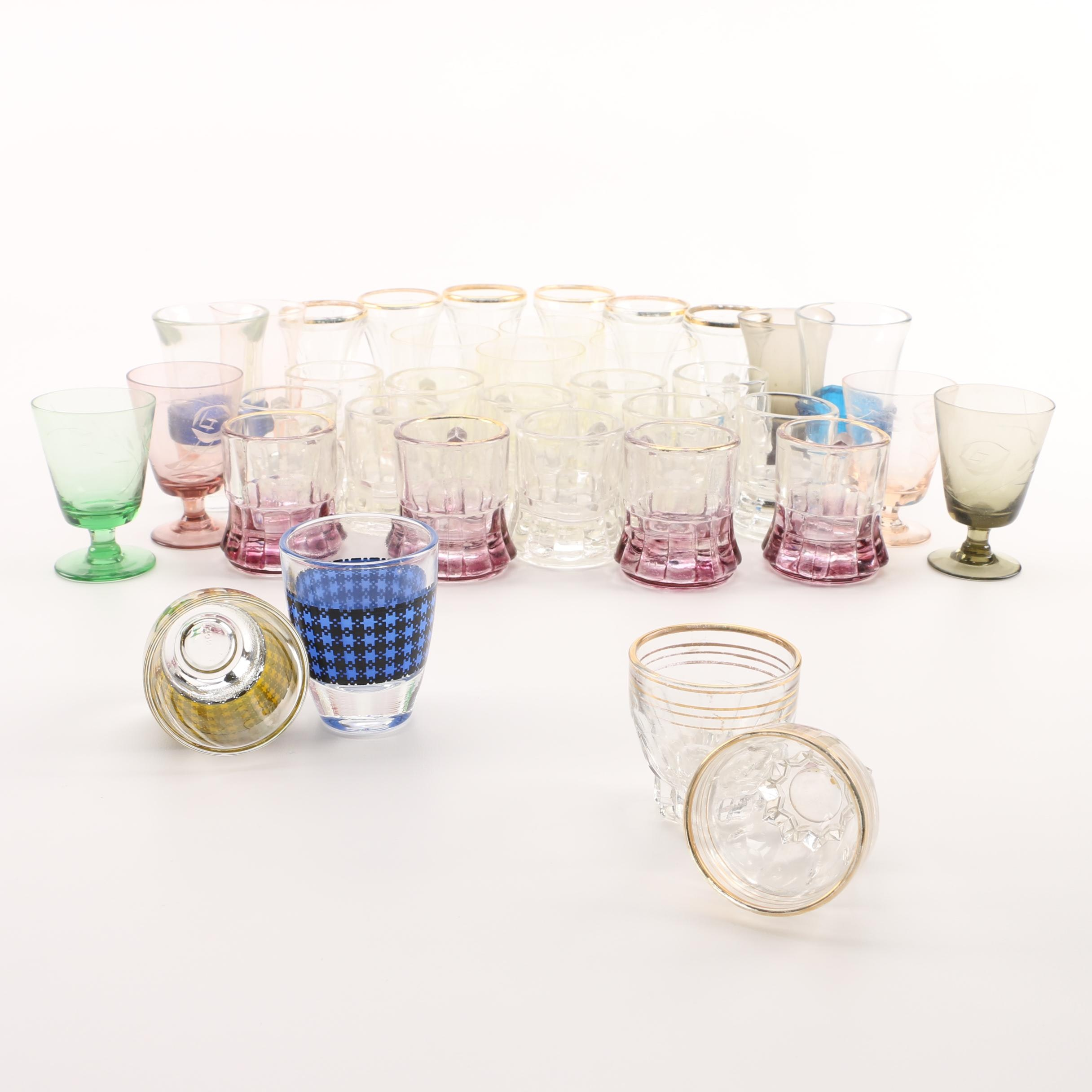 Vintage and Contemporary Cordial and Shot Glasses