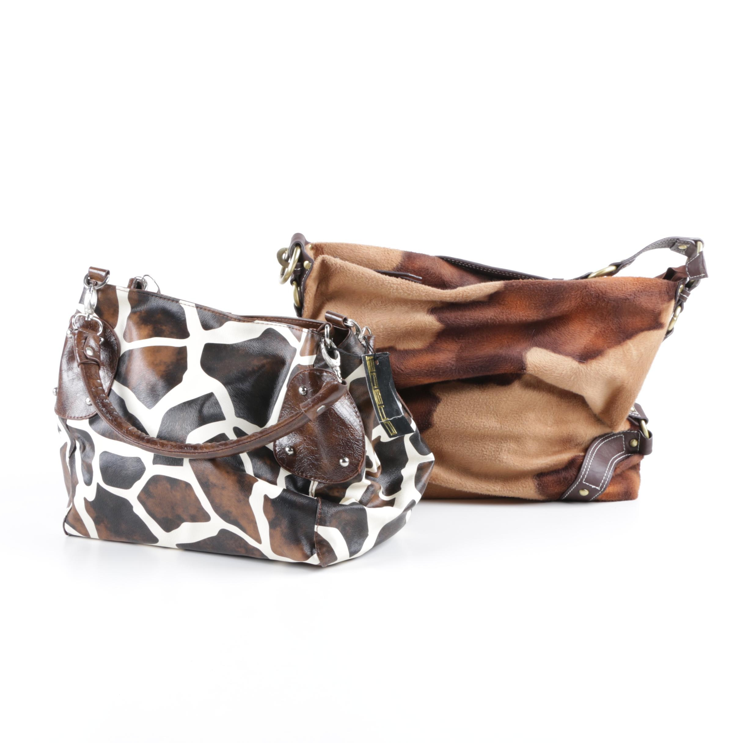 Animal Print Faux Leather Shoulder Bags