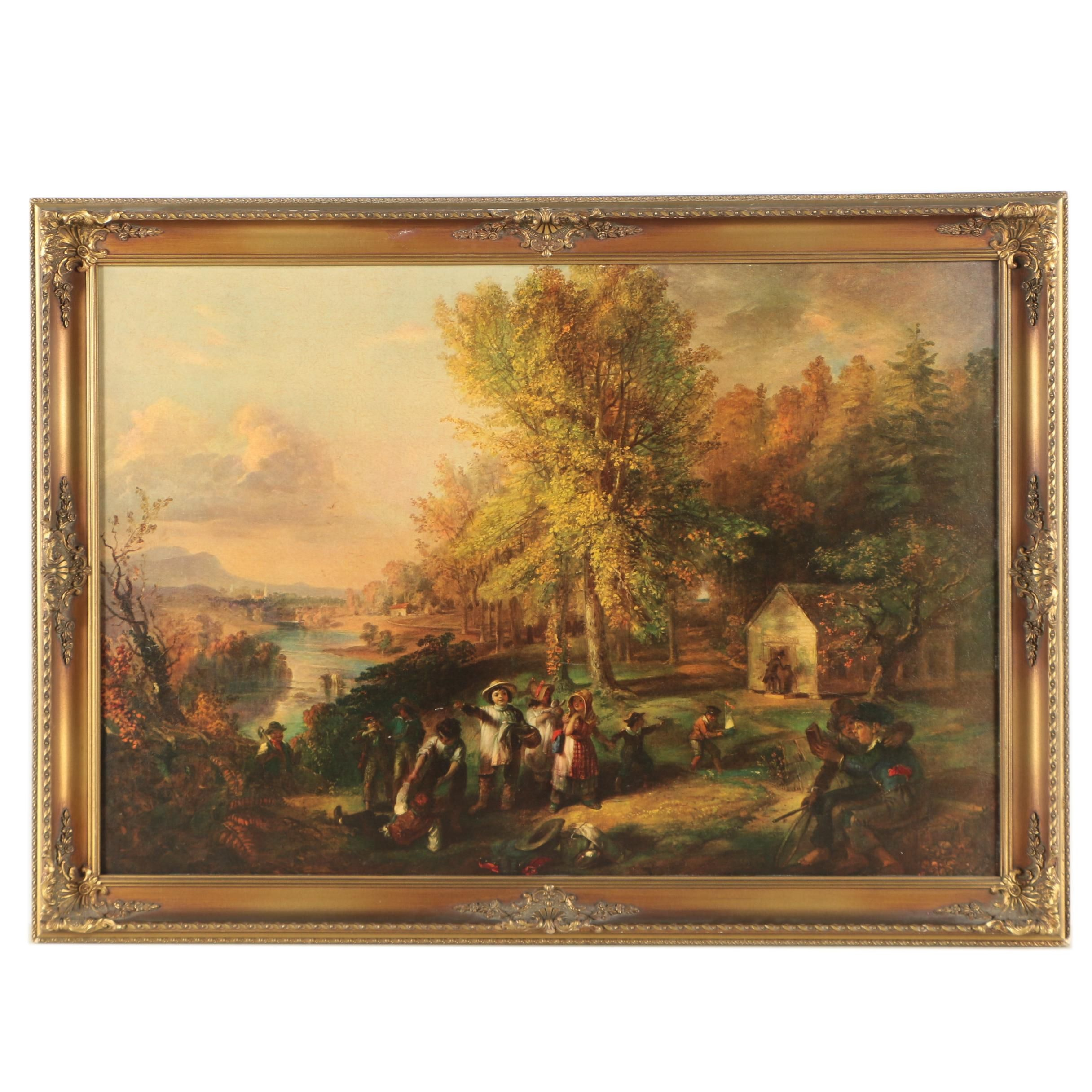 Giclee on Board After Henry Inman of Outdoor Scene