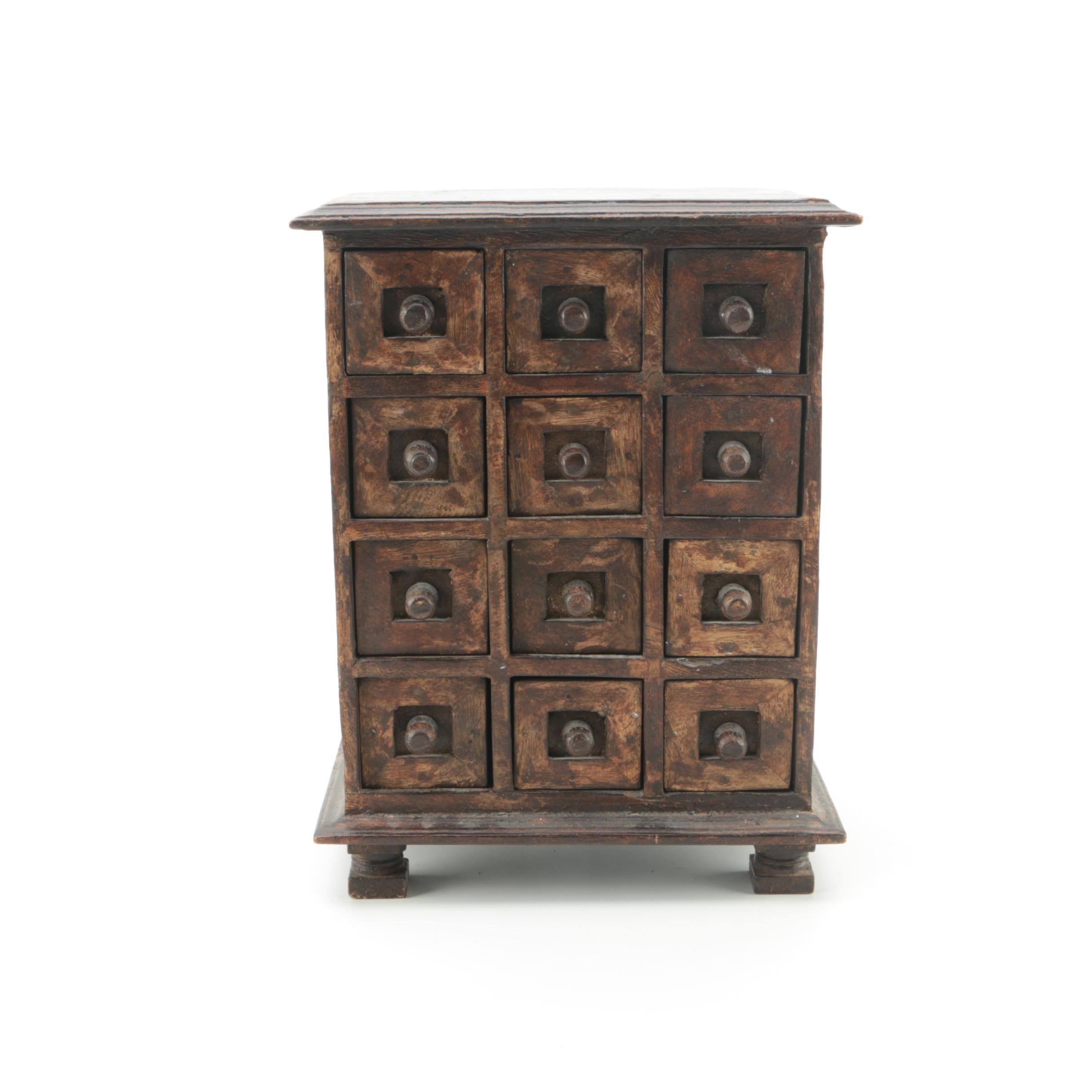 Wood Apothecary Spice Chest