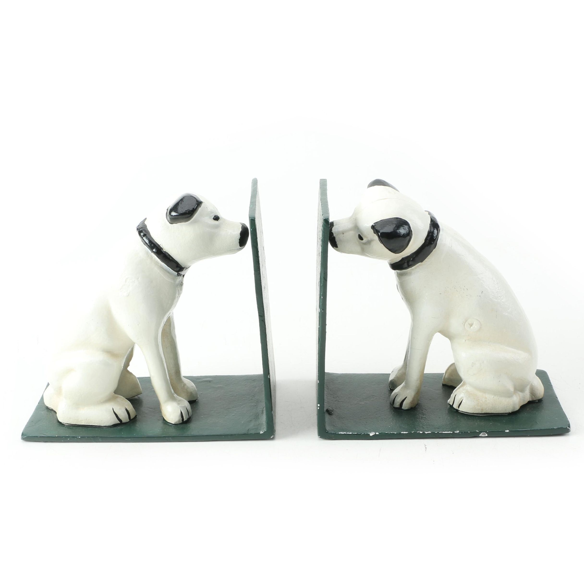 Cast Iron RCA Dog Bookends