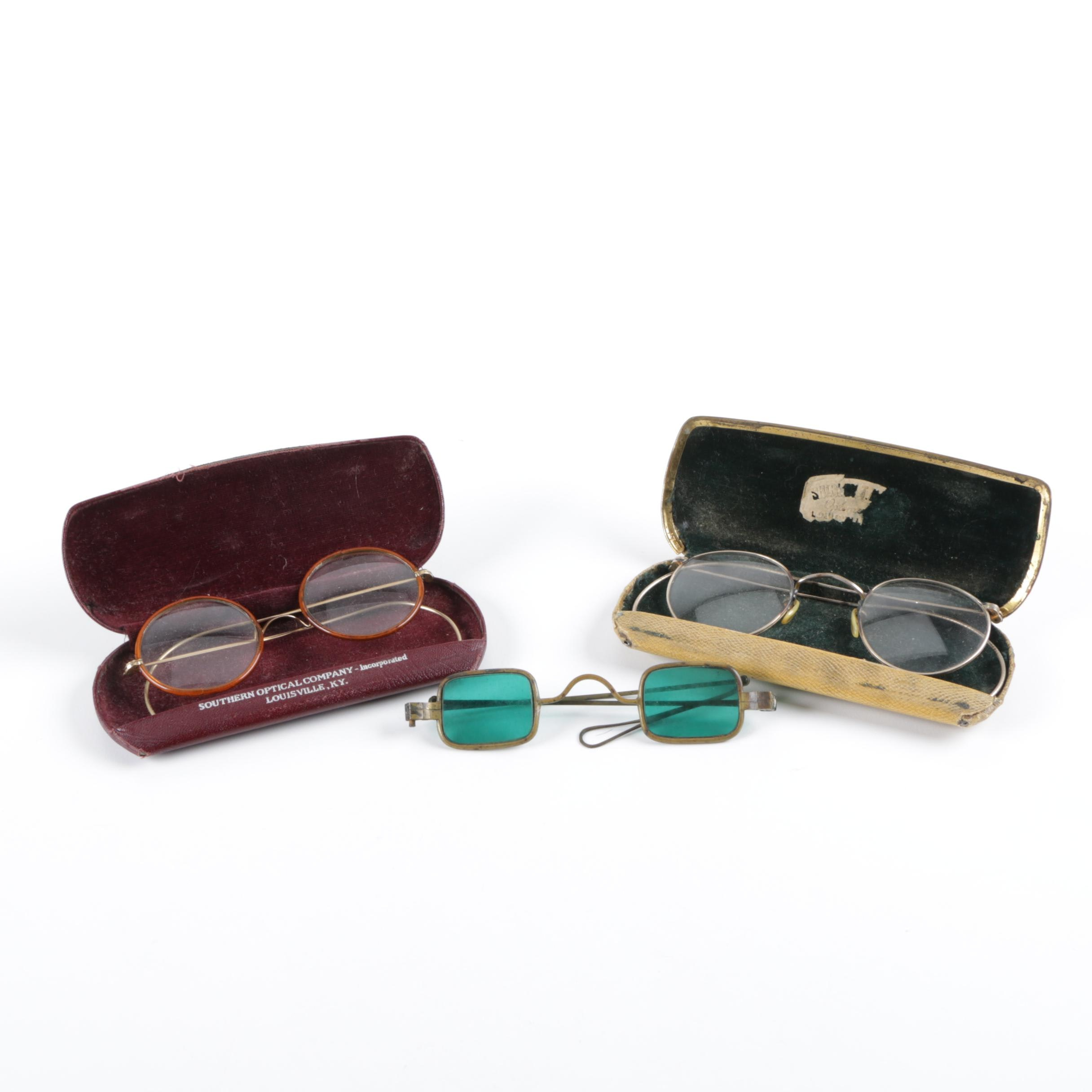 Vintage Eyeglasses and Cases
