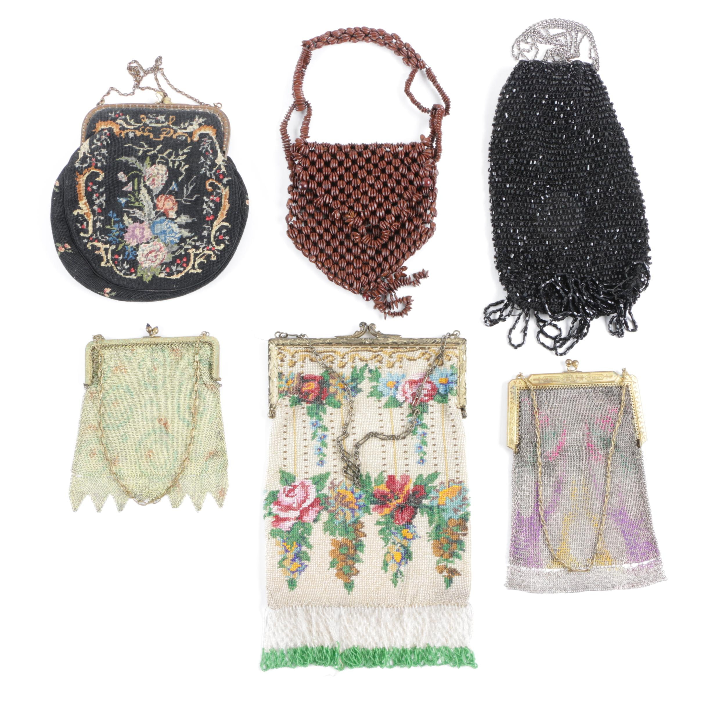 Vintage Evening Bags Including Whiting & Davis
