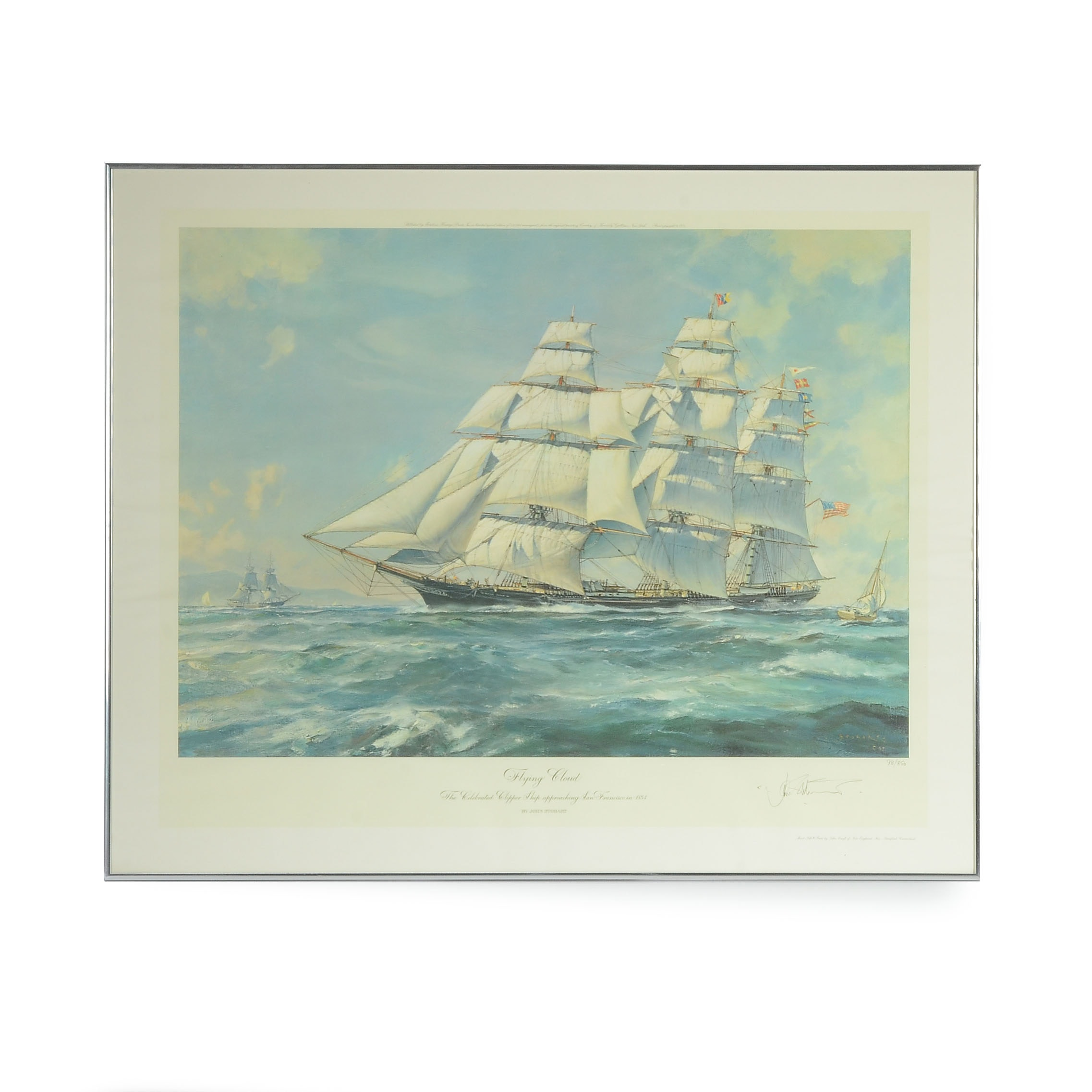 """John Stobart Limited Edition Offset Lithograph after """"Flying Cloud"""""""