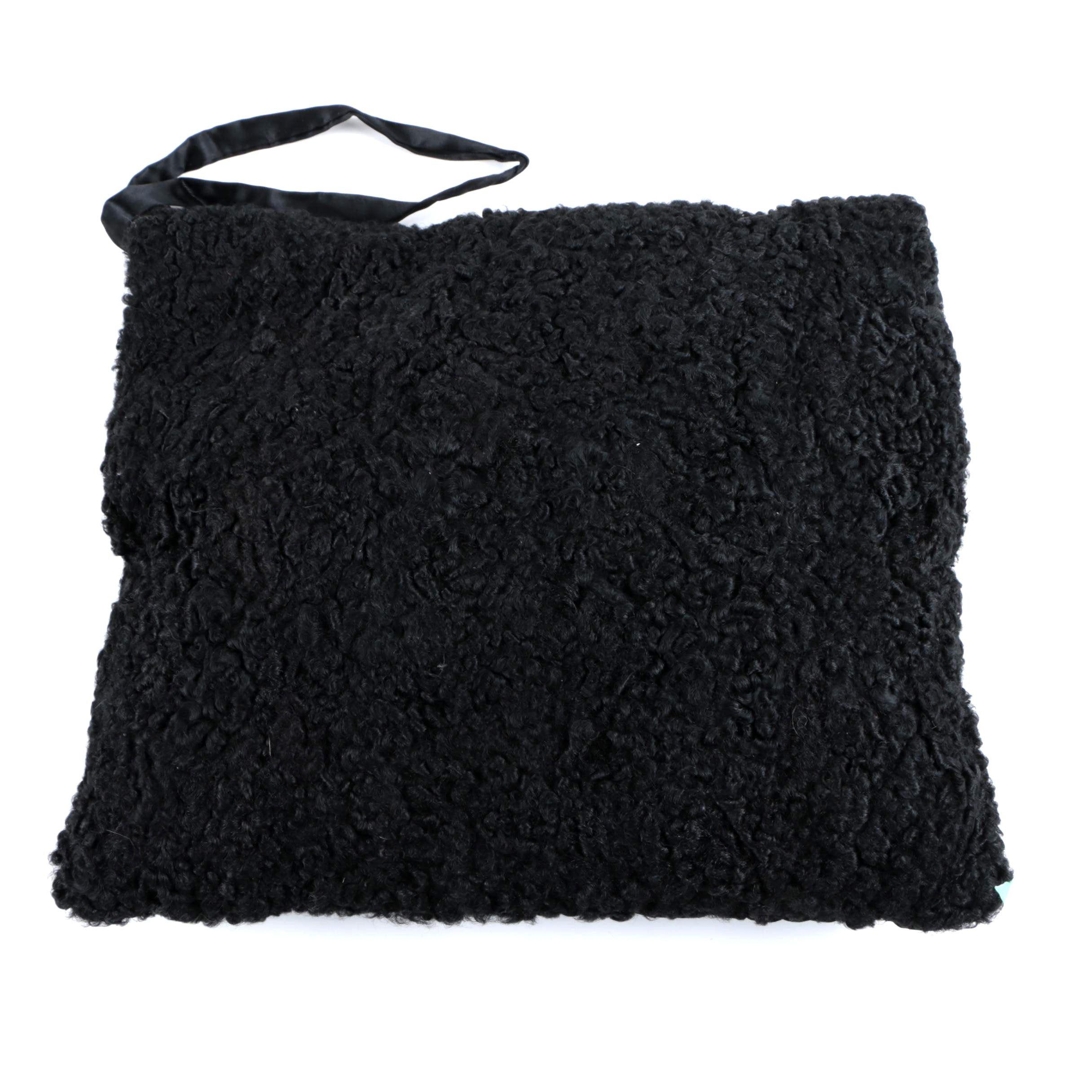 Vintage Black Persian Lamb Fur Muff