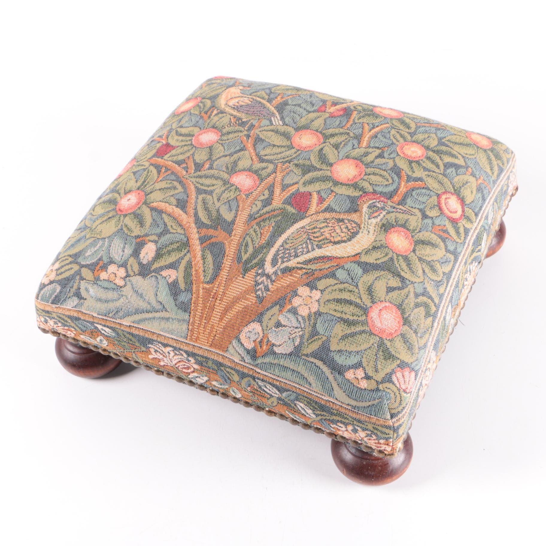 Tapestry Style Footstool