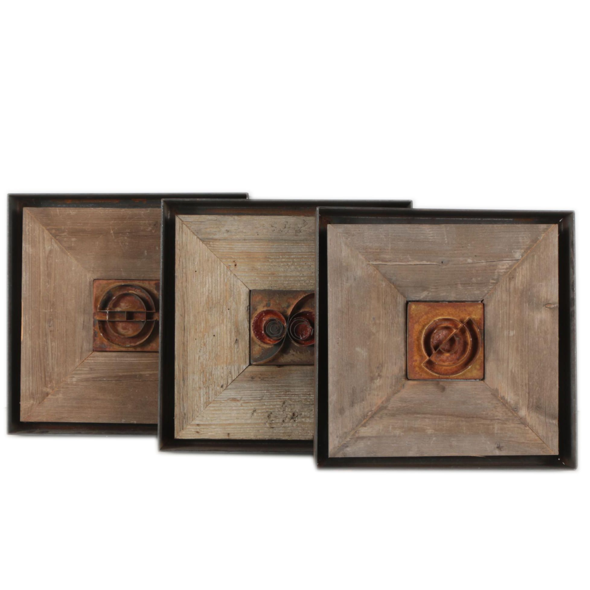 "Hirsh Wood and Metal Wall Hangings Including ""Untitled #84"" and ""Untitled #89"""