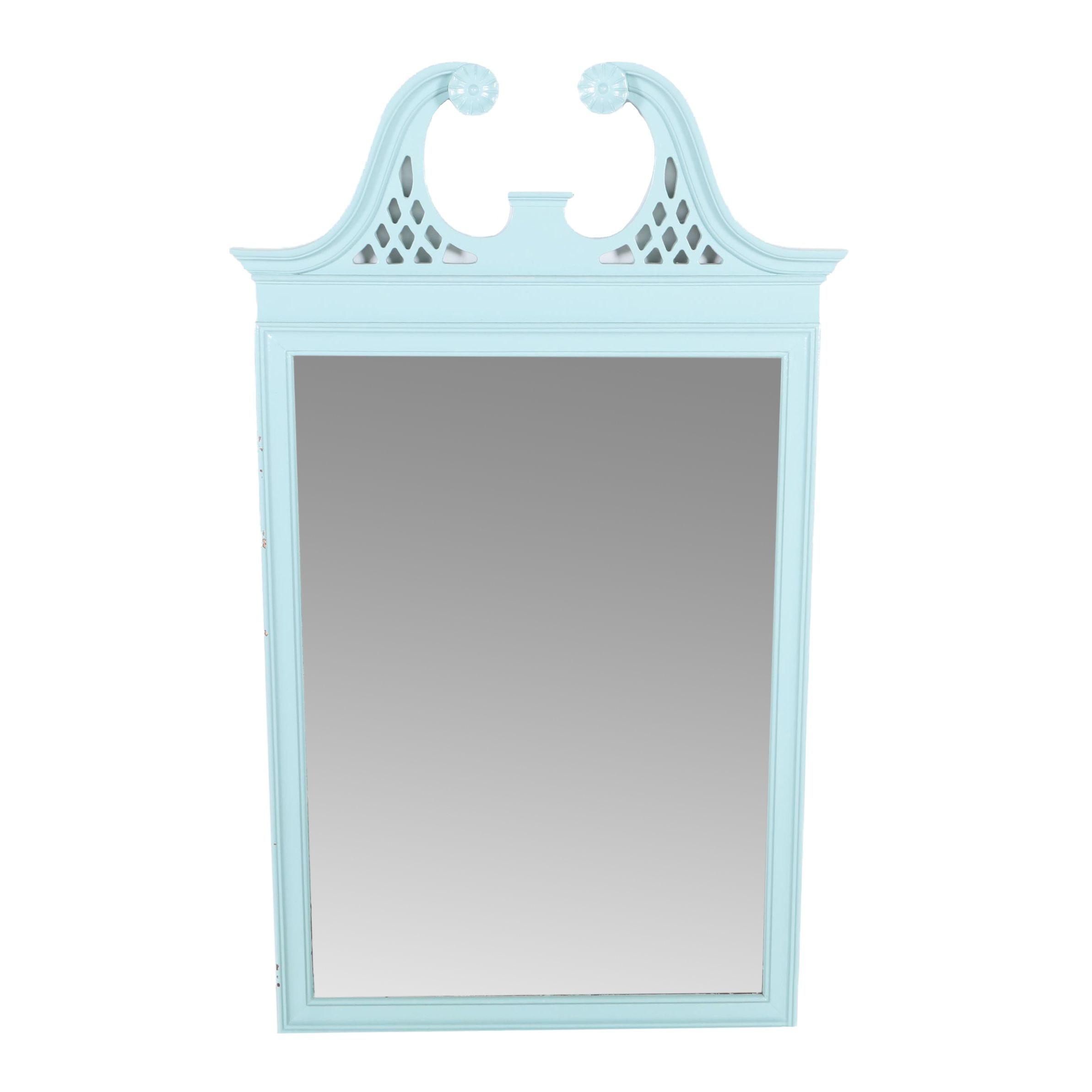 Wood Framed Georgian Style Wall Mirror