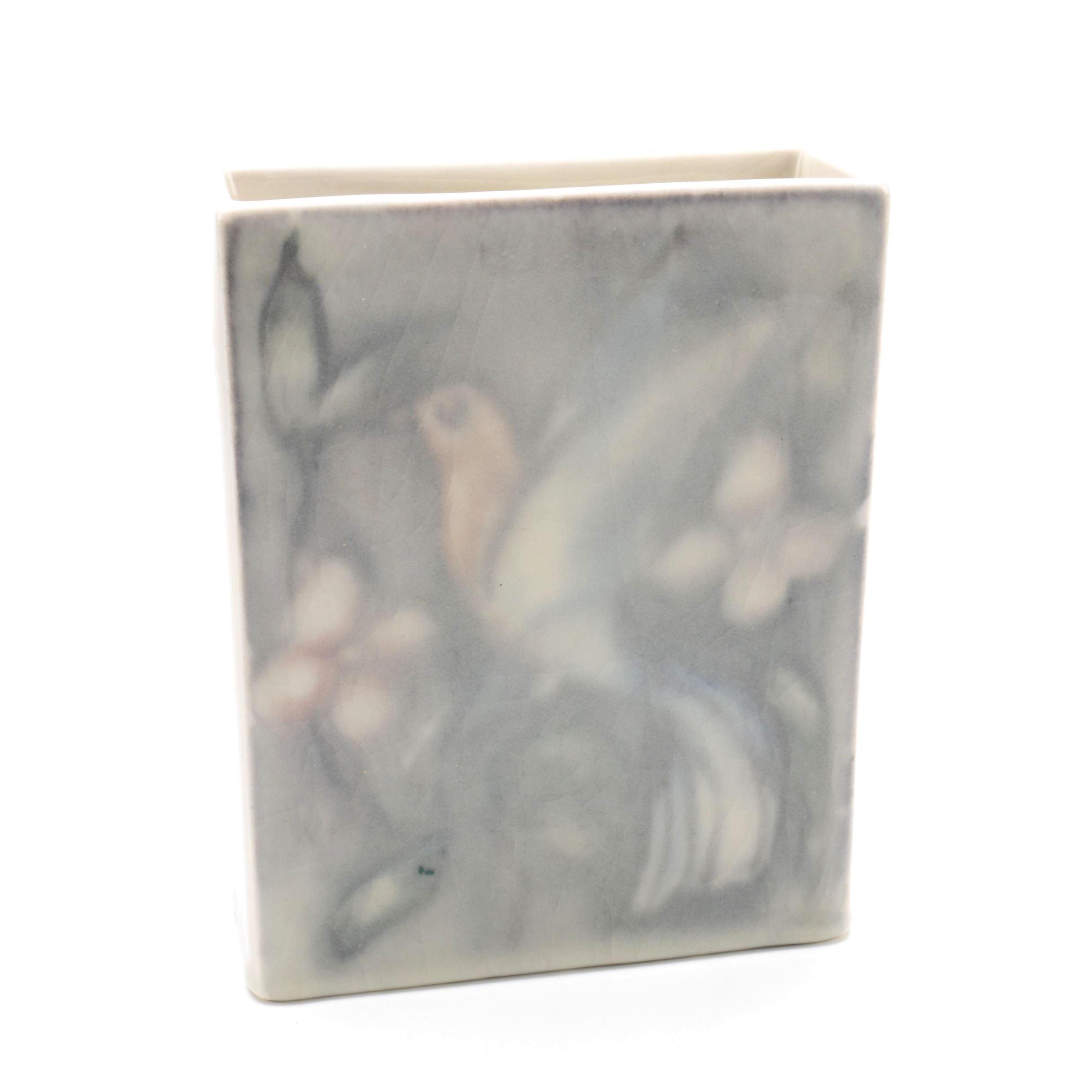 Signed Jens Jensen 1946 Rookwood Square Vase