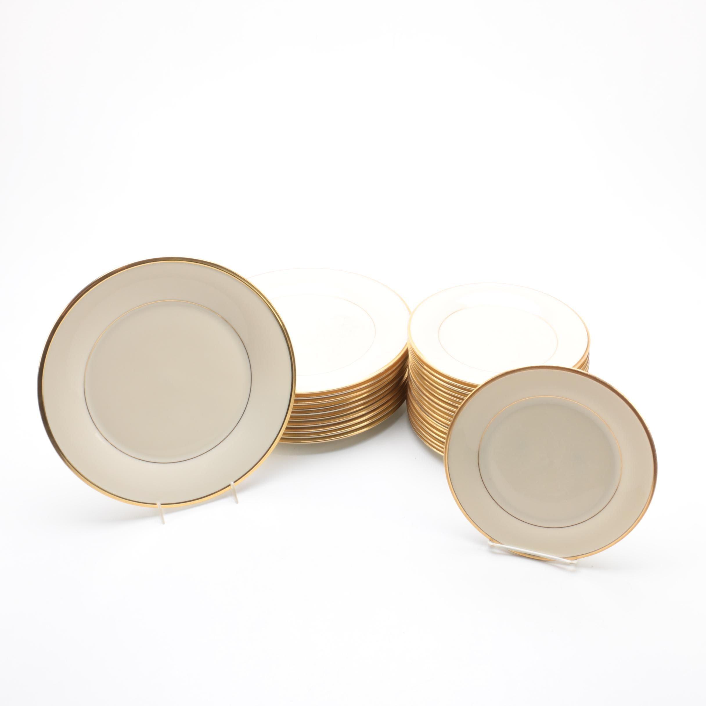 "Lenox ""Eternal"" Porcelain Plates"