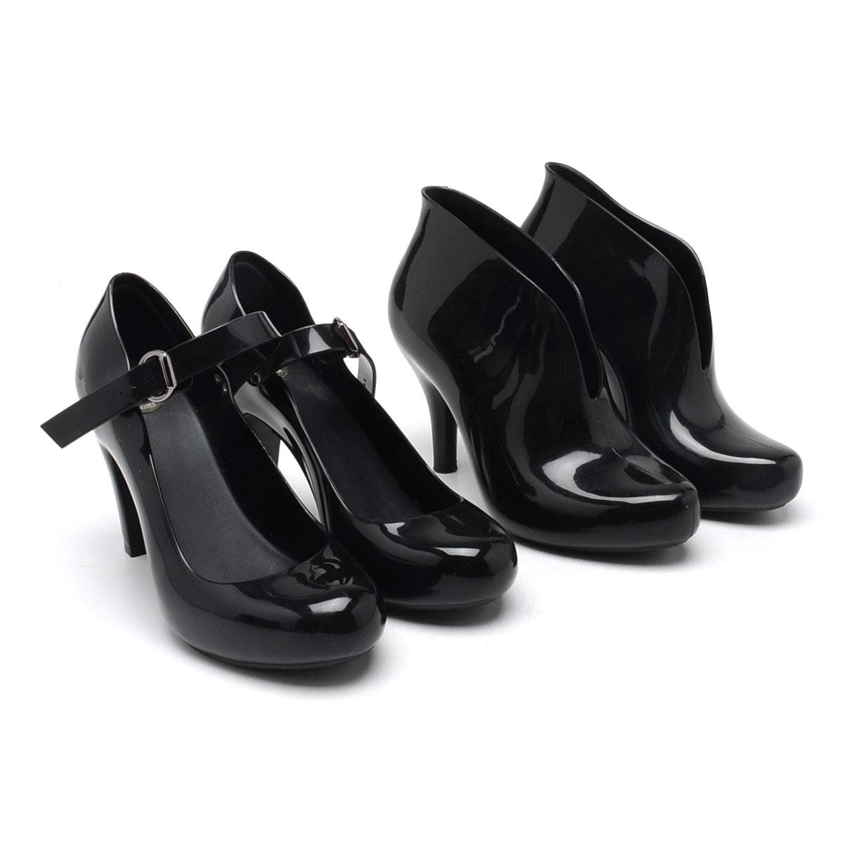 Melissa Recycled PVC Black Heels