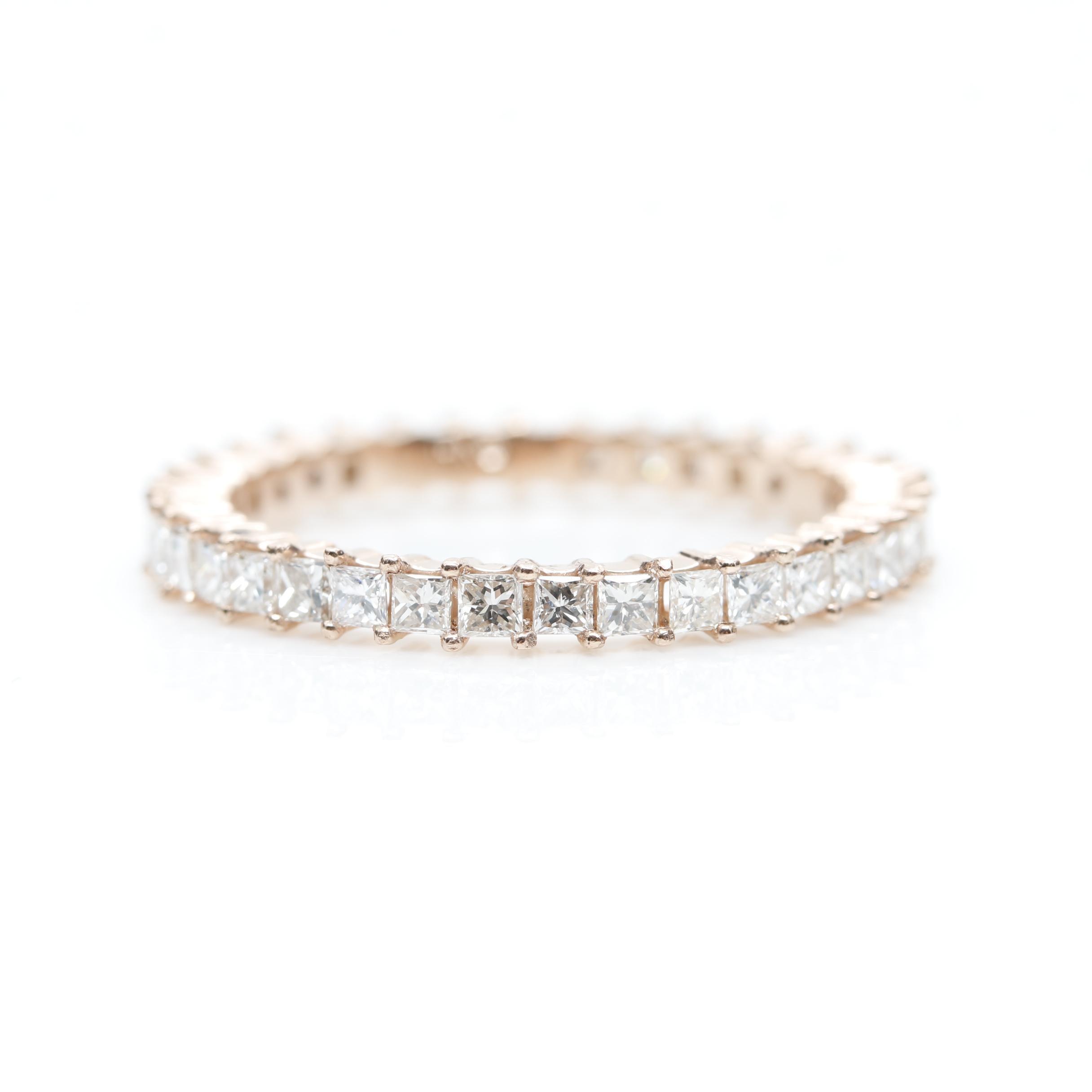 14K Rose Gold 1.05 CTW Diamond Ring
