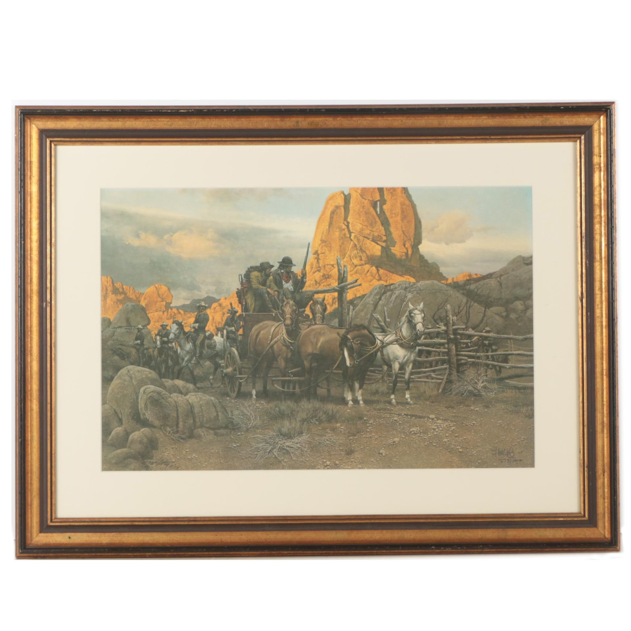"""Frank McCarthy Limited Edition Offset Lithographic Print """"Surrounded"""""""