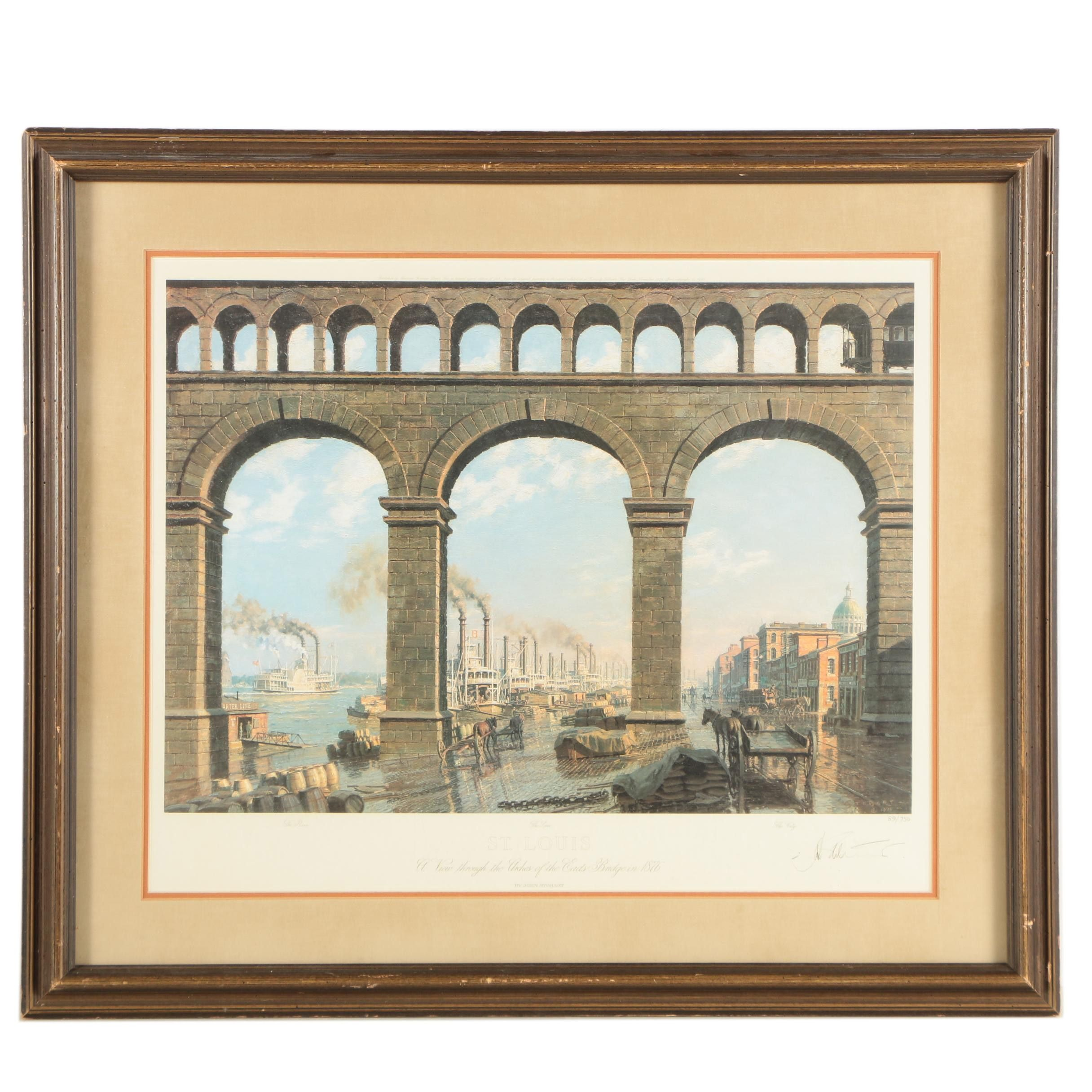 "John Stobart Limited Edition Offset Lithograph Print ""St. Louis"""
