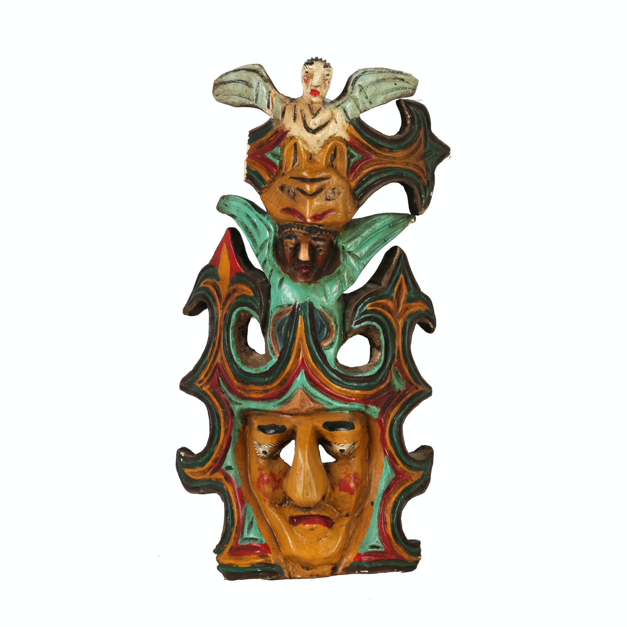 Ethnographic Style Totem Mask