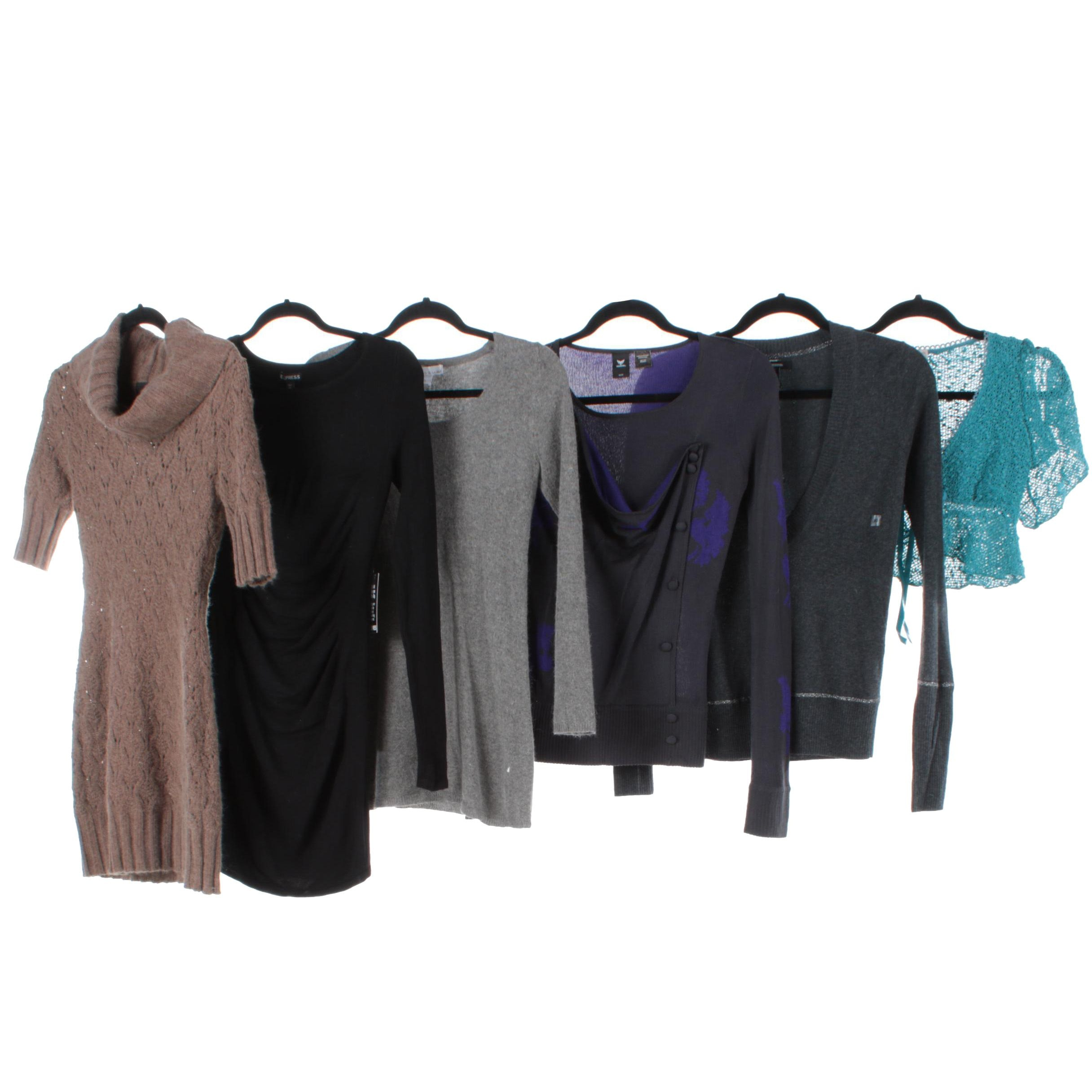 Women's Knit Tops and Dresses Including Express