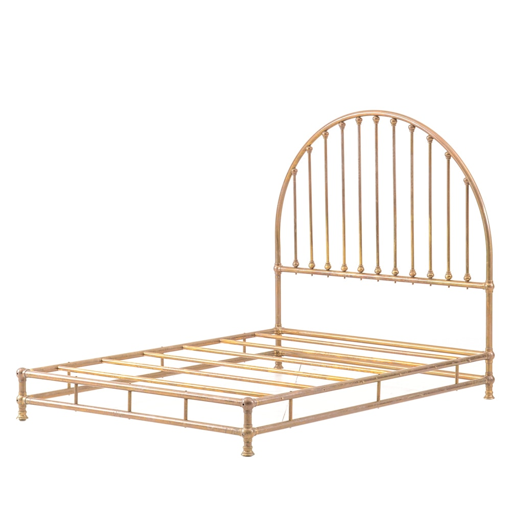 Vintage Queen-Sized Brass Bed Frame