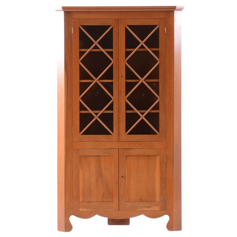 Vintage Maple Corner Cabinet