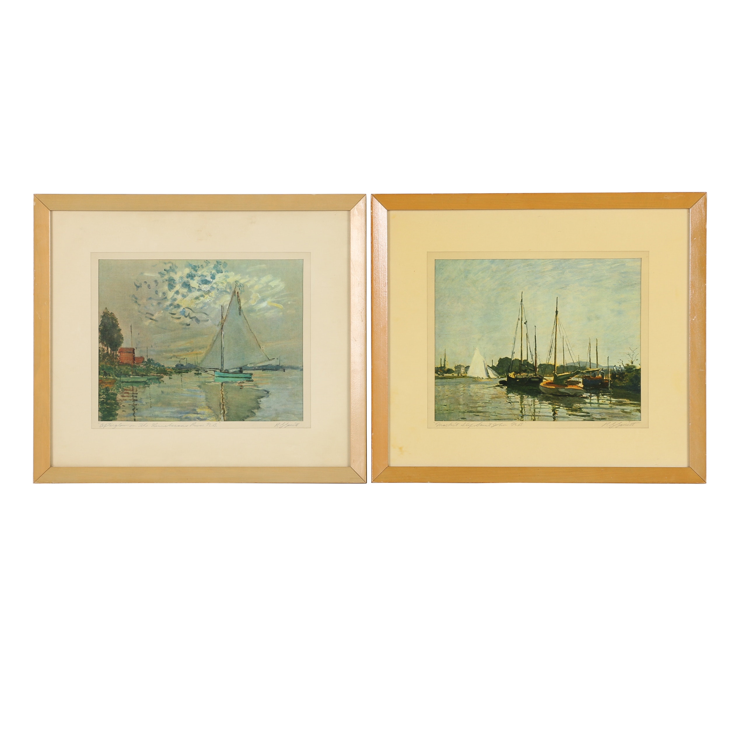 Offset Lithographic Reproduction Prints After Claude Monet