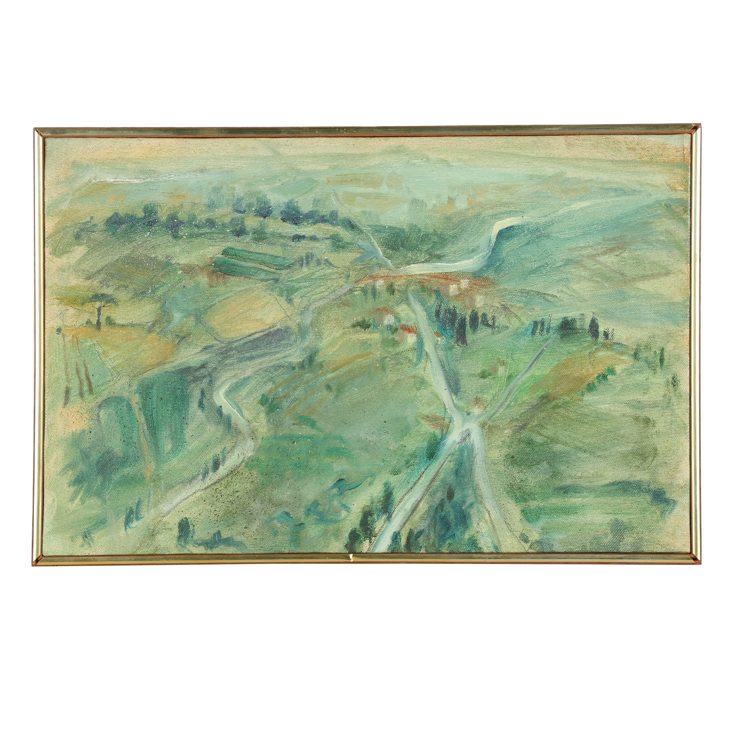 Aerial Painting of a Landscape