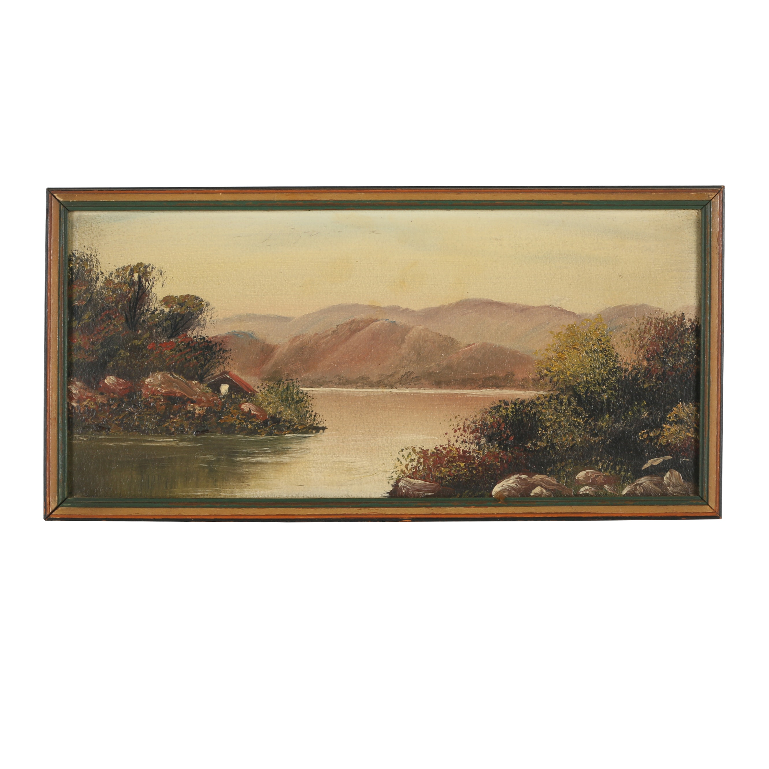 Oil Painting on Board of a Scenic River