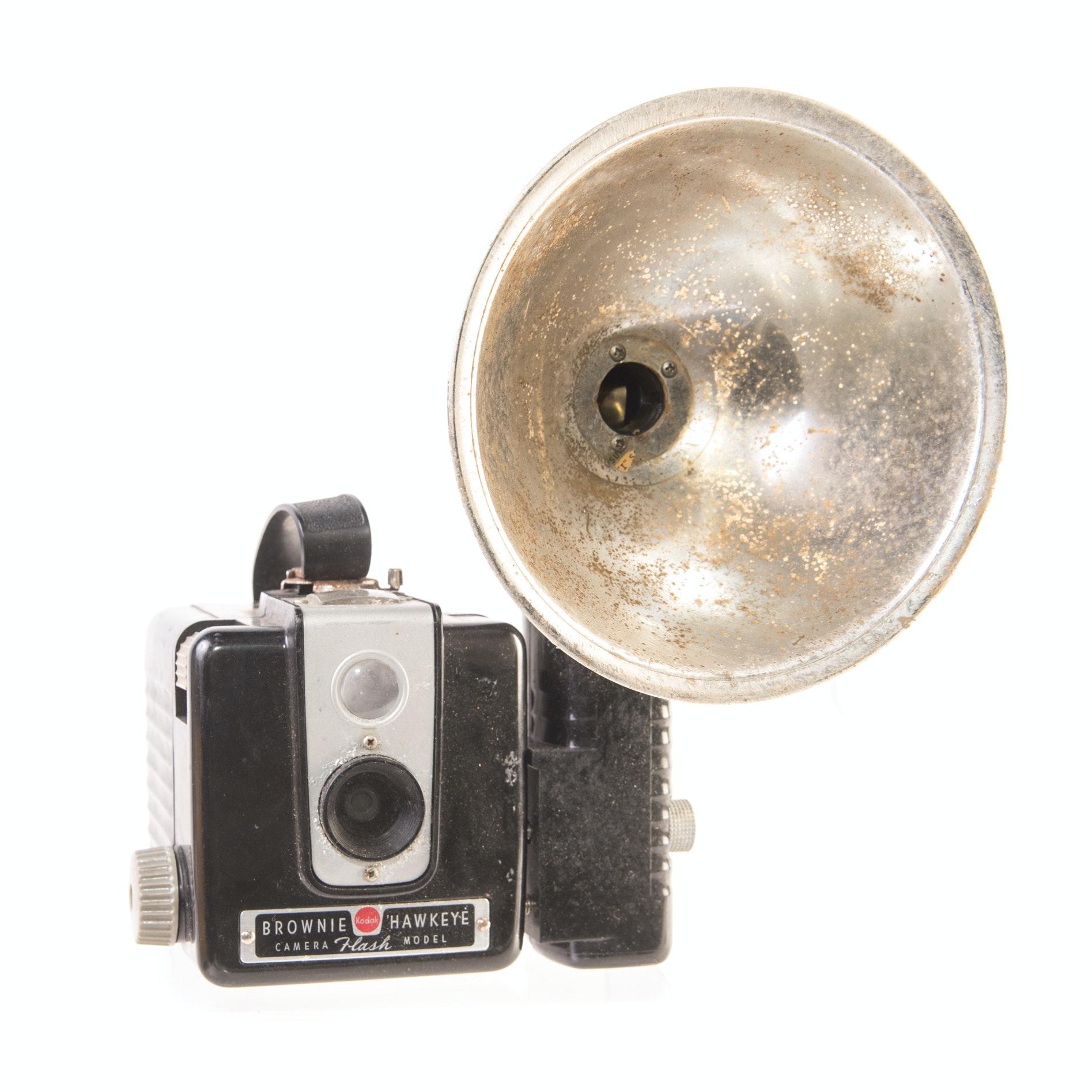 Vintage Brownie Camera with Flash