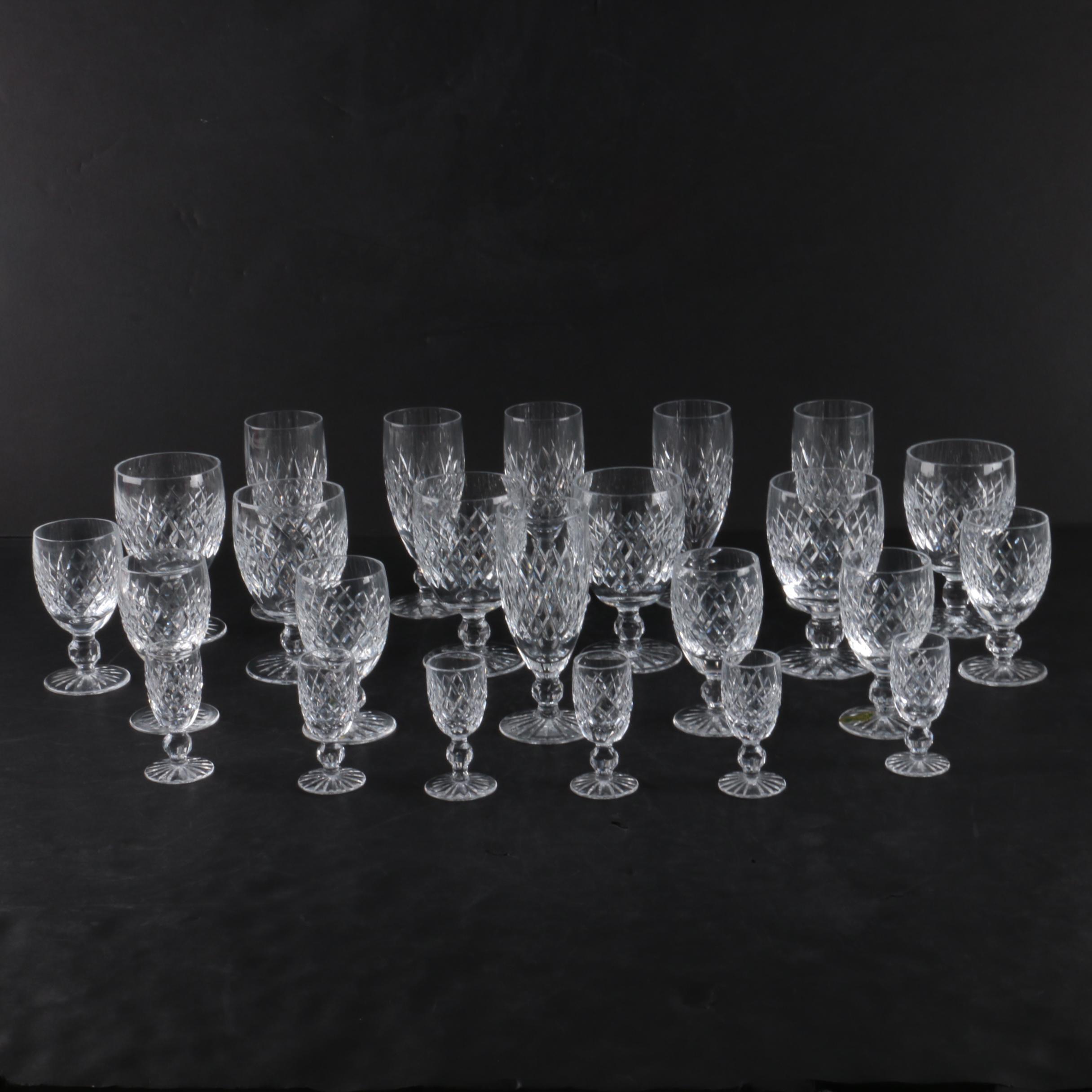 """Waterford Crystal """"Boyne"""" Stemware"""