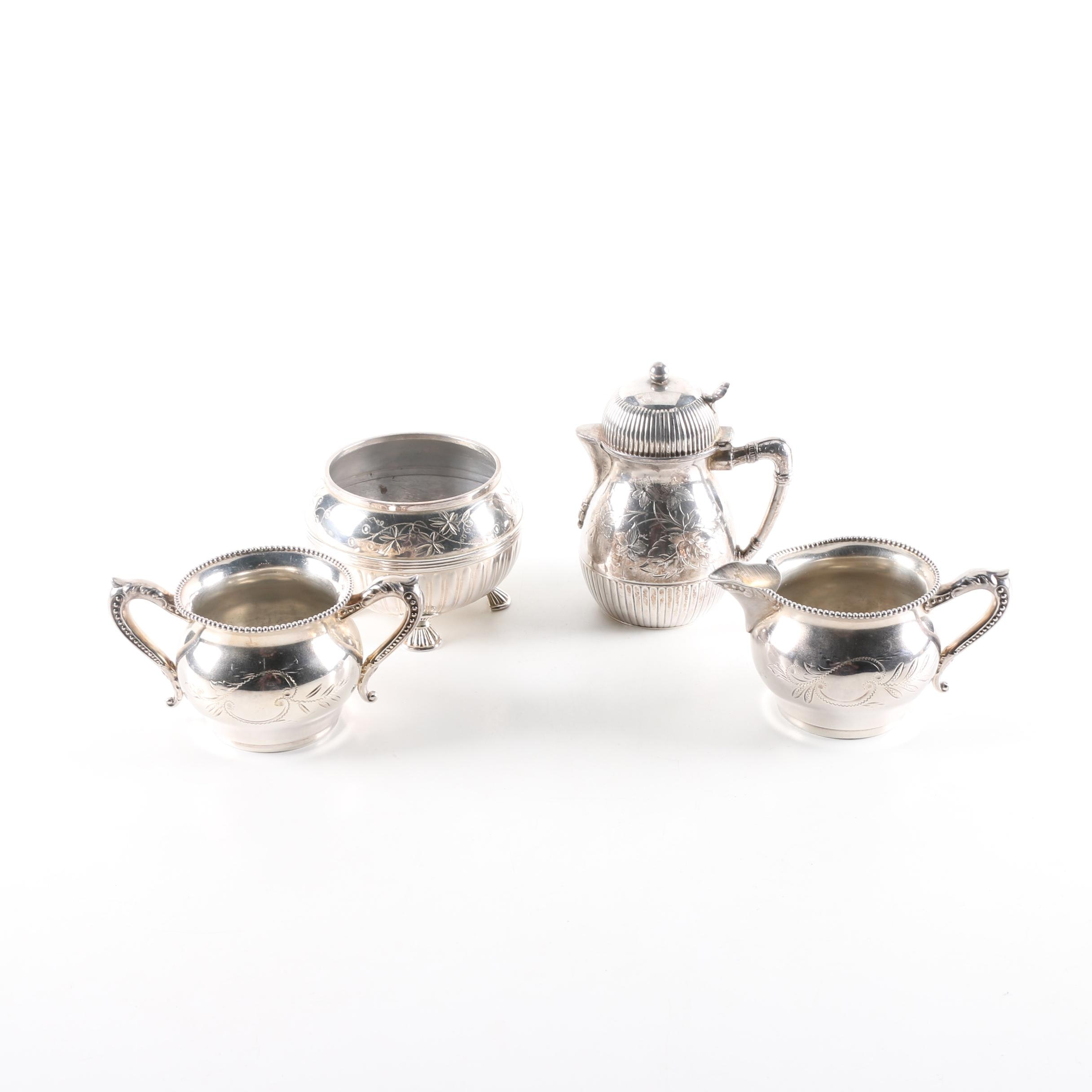 Barbour Bros. Co. Silver Plate Teapot and Other Tableware