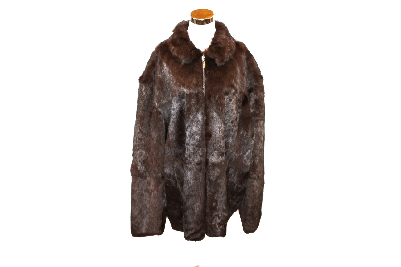 Piel De Fe Collection Rabbit Fur Coat