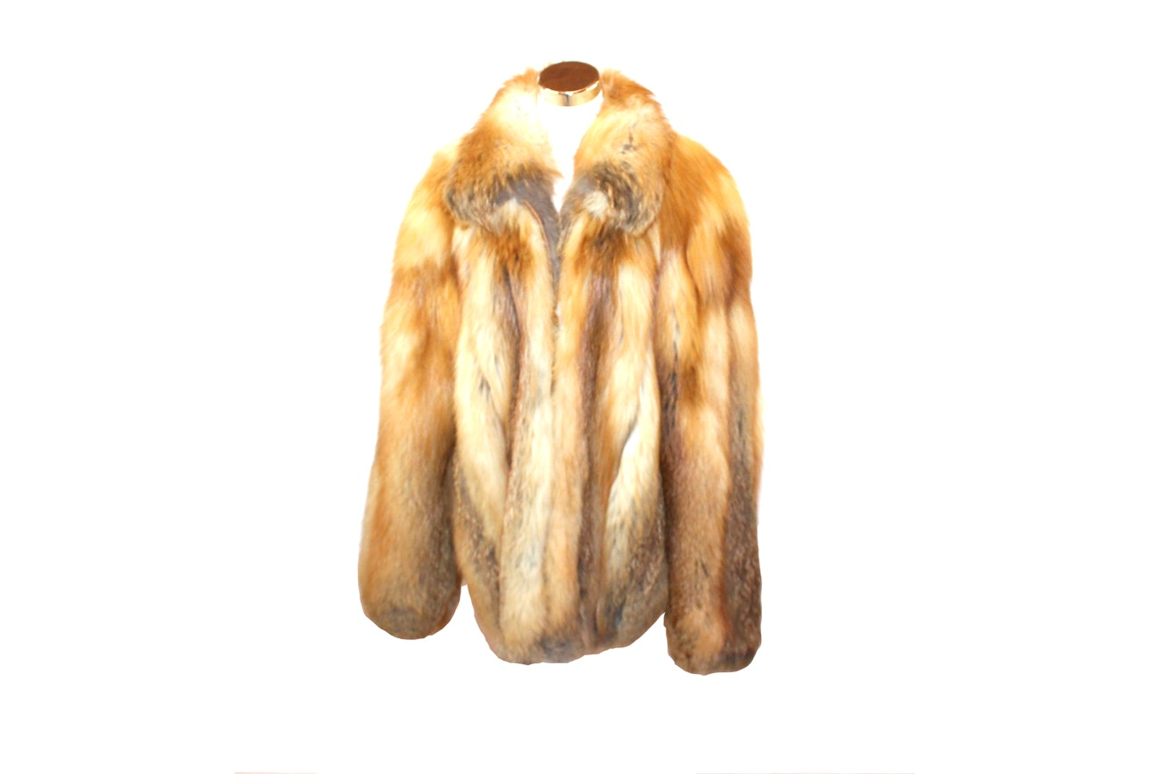 Henig Furs Red Fox Fur Coat