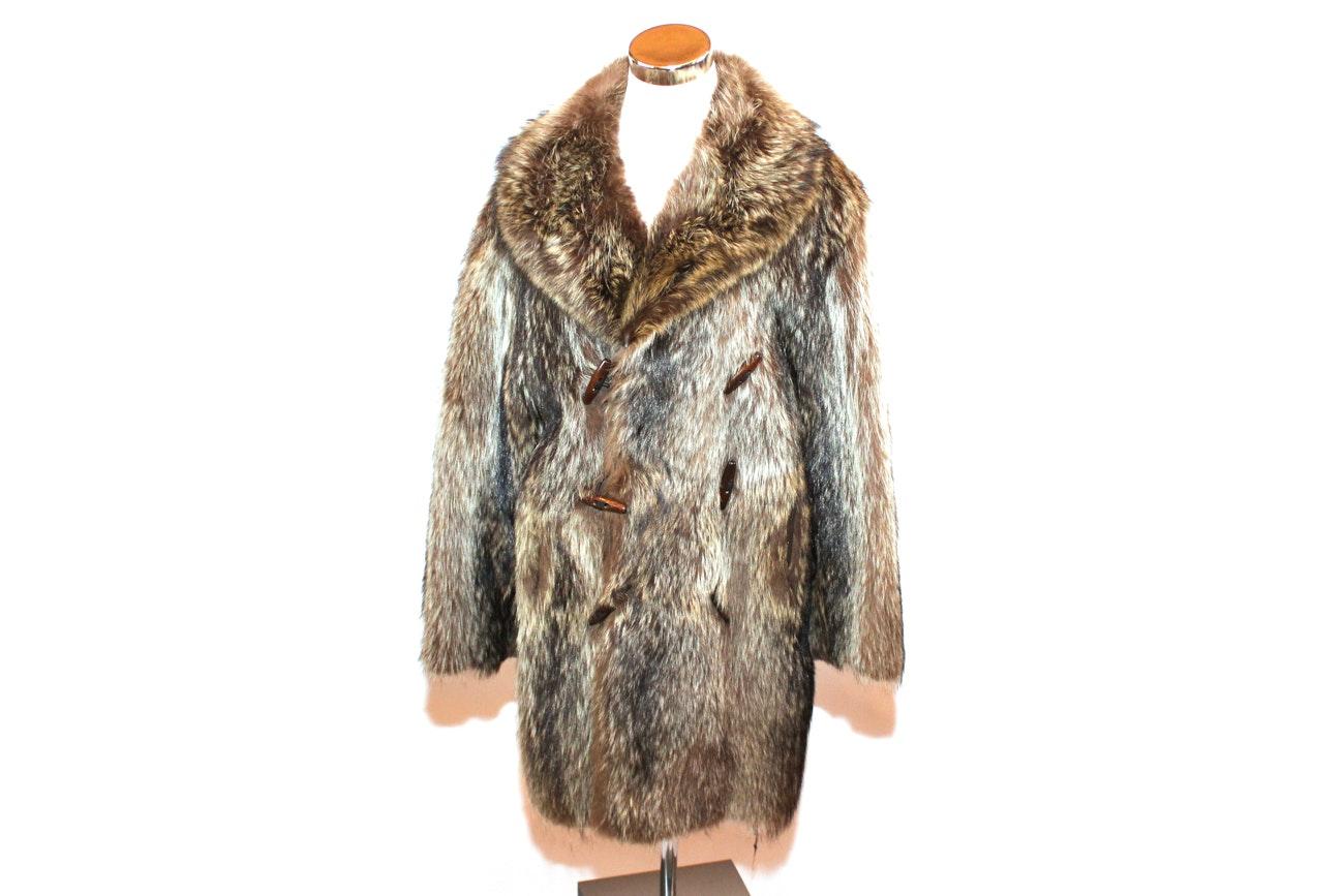 Laflamme Fourrure Raccoon Fur Coat