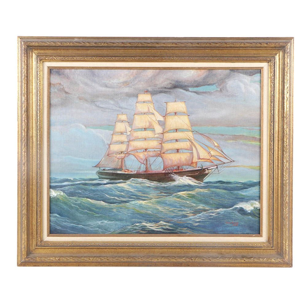 "Edward King Oil Painting ""Portrait: Flying Cloud"""
