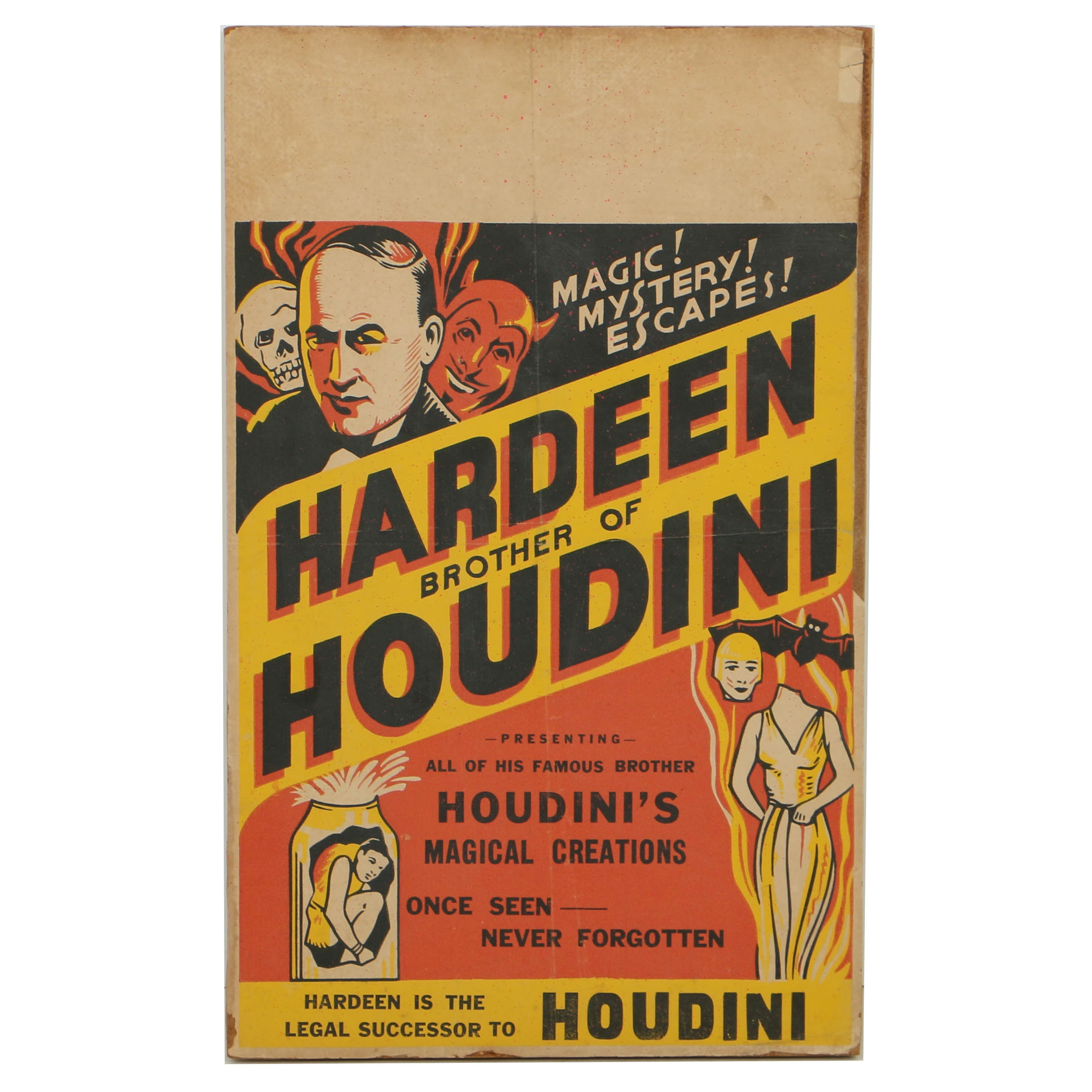 Hardeen Brother of Houdini Magic Poster