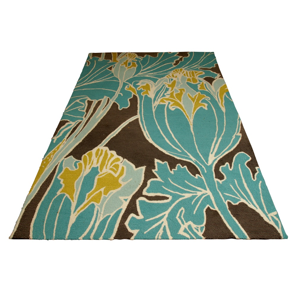 Hand-Hooked Thomas Paul Outdoor Area Rug