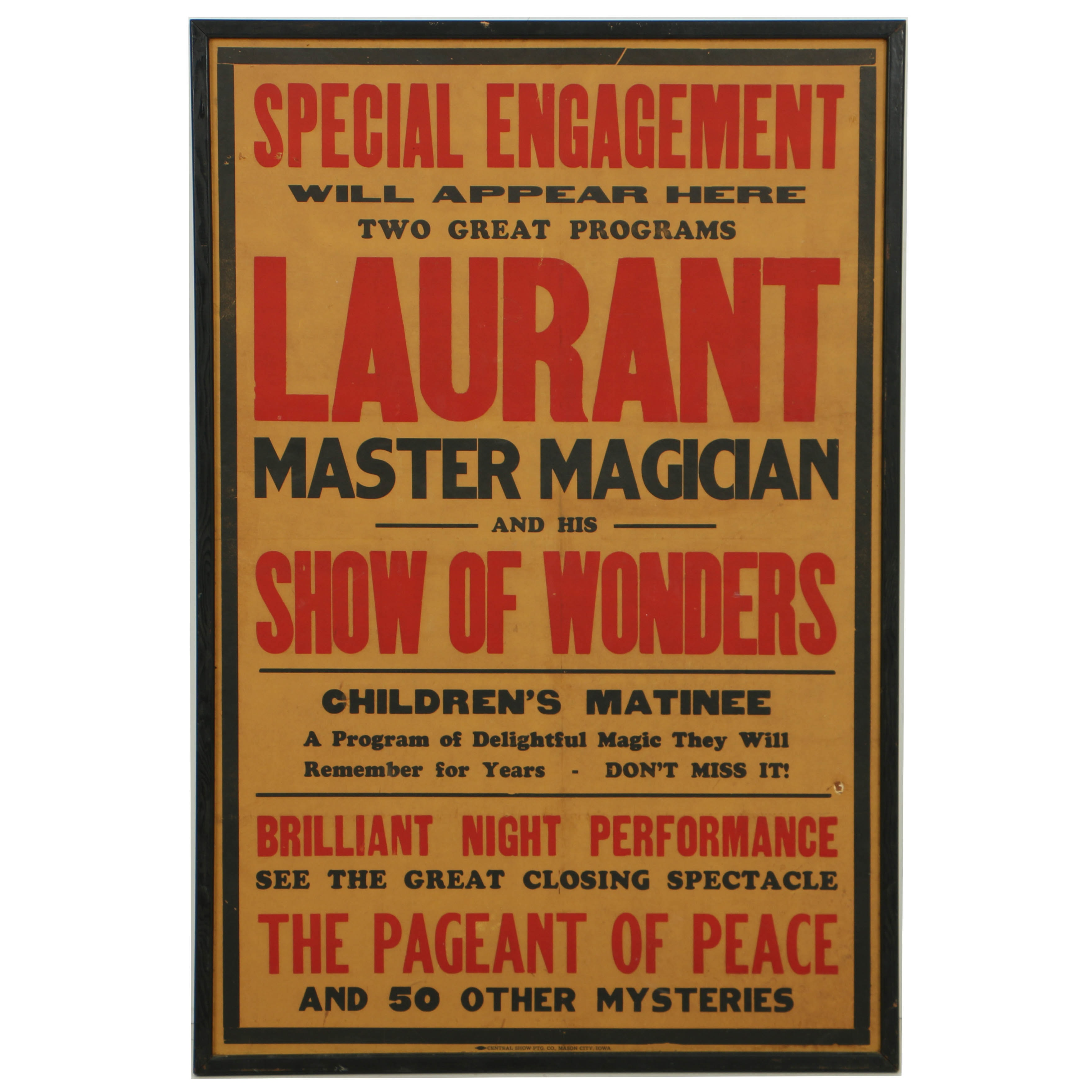 Laurant Master Magician and His Show of Words Magic Poster