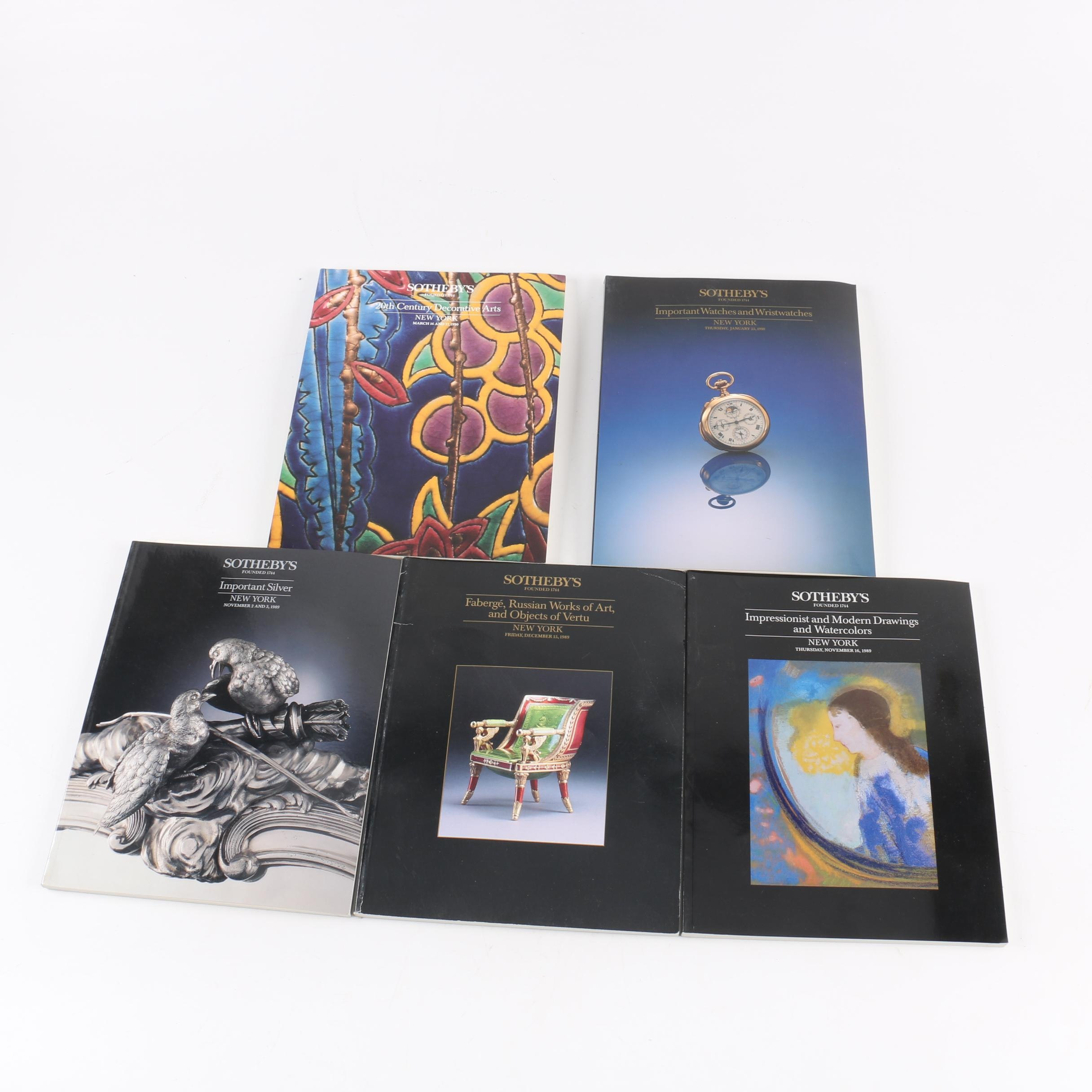 1989 - 1990 Sotheby's Catalogs