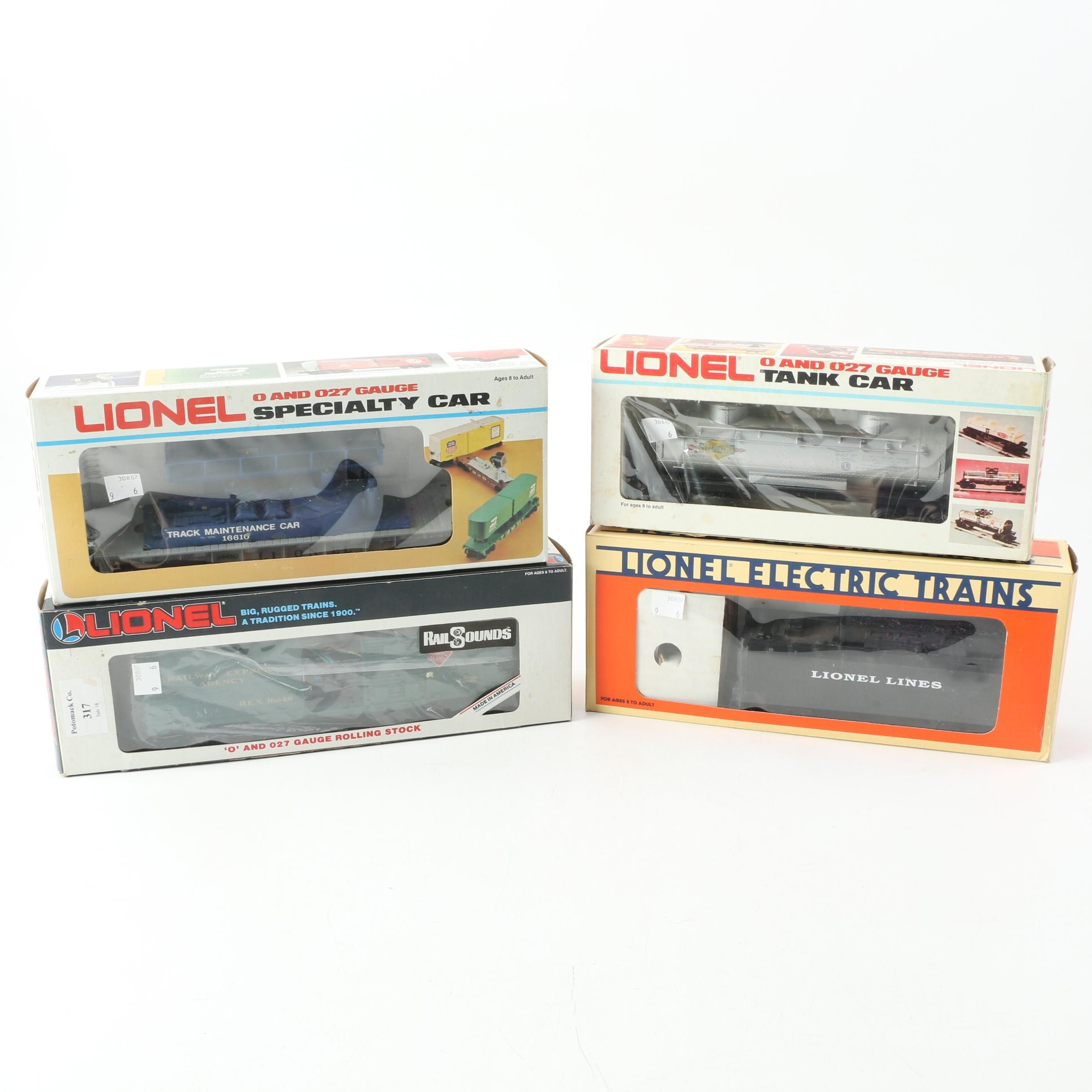 Lionel Train Cars Including Gulf Two-Dome Tank Car