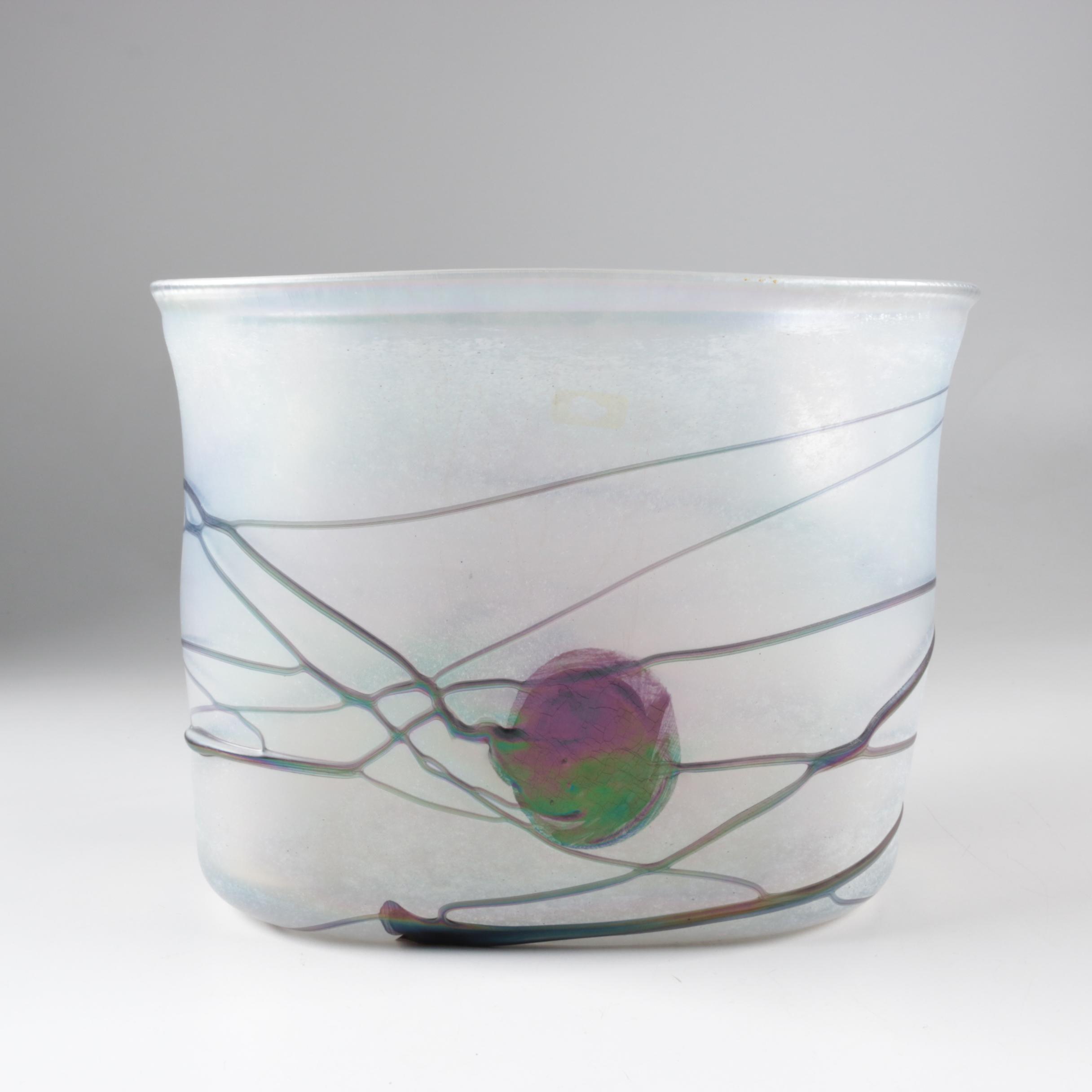 Vintage Bertil Vallien for Kosta Boda Art Glass Vase