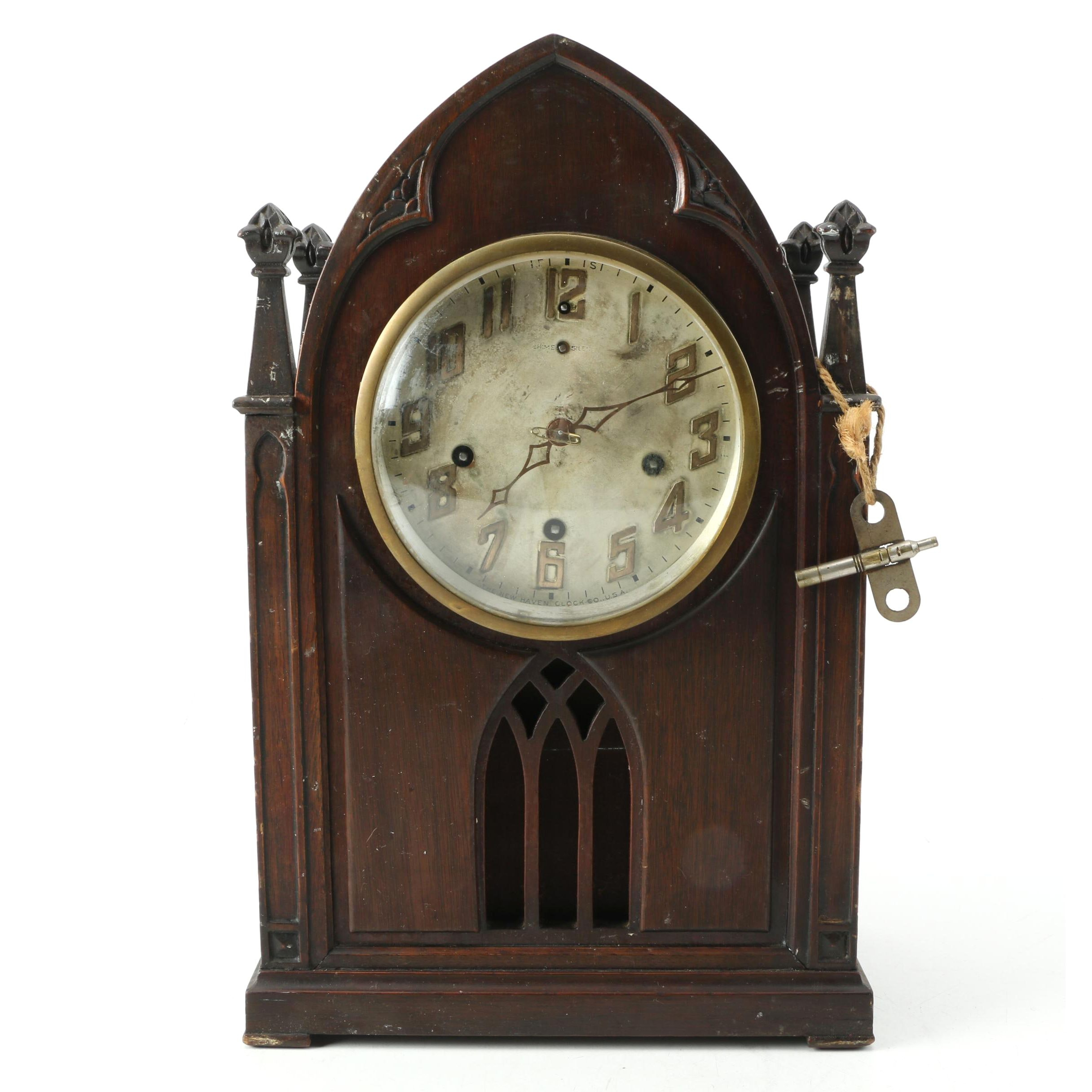 "New Haven Clock Co. ""Abbey"" Mantel Clock"