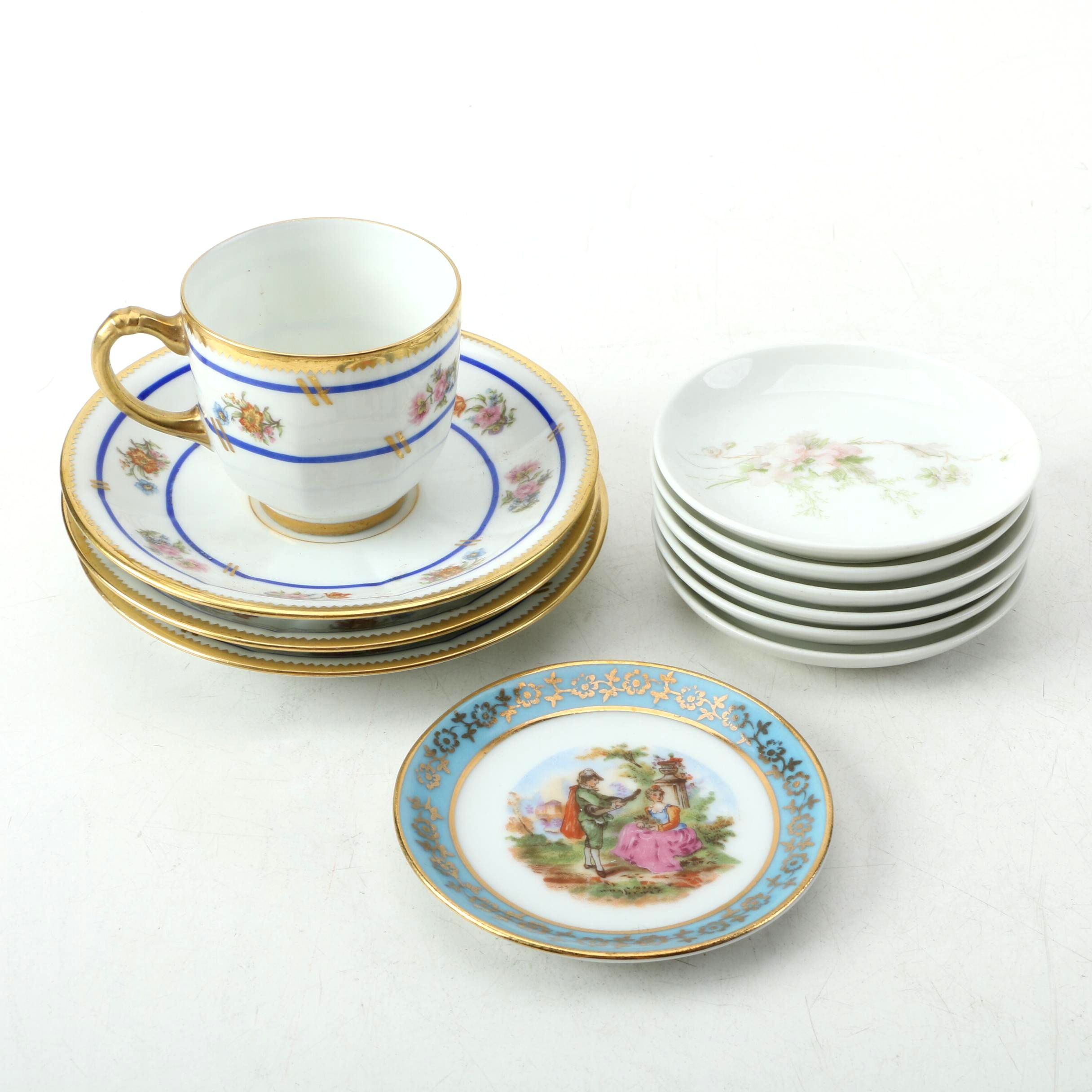 Limoges Porcelain Tableware Including Jean Pouyat