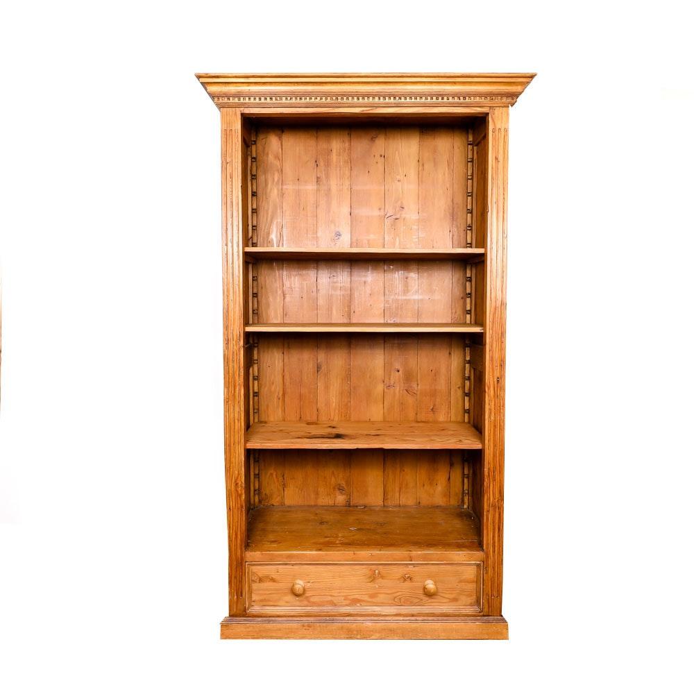 Rustic Pine Bookcase
